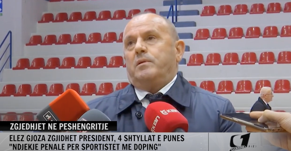 Elez Gjoza is Albanian Weightlifting Federation President once more ©YouTube