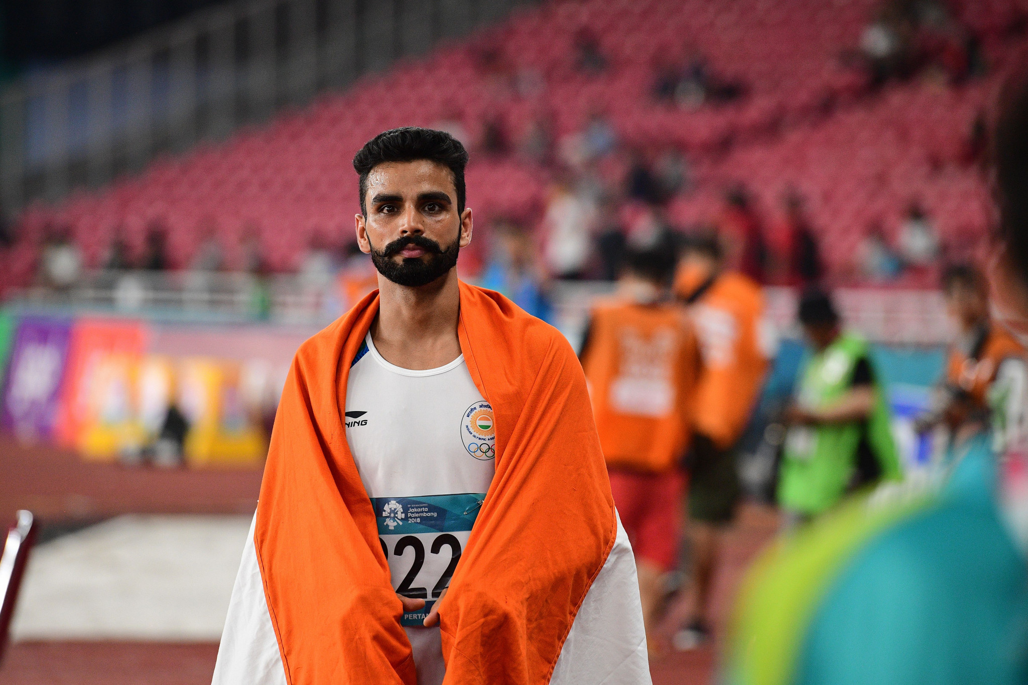 Arpinder Singh de India es el actual campeón de triple salto de los Juegos Asiáticos Masculinos © Getty Images
