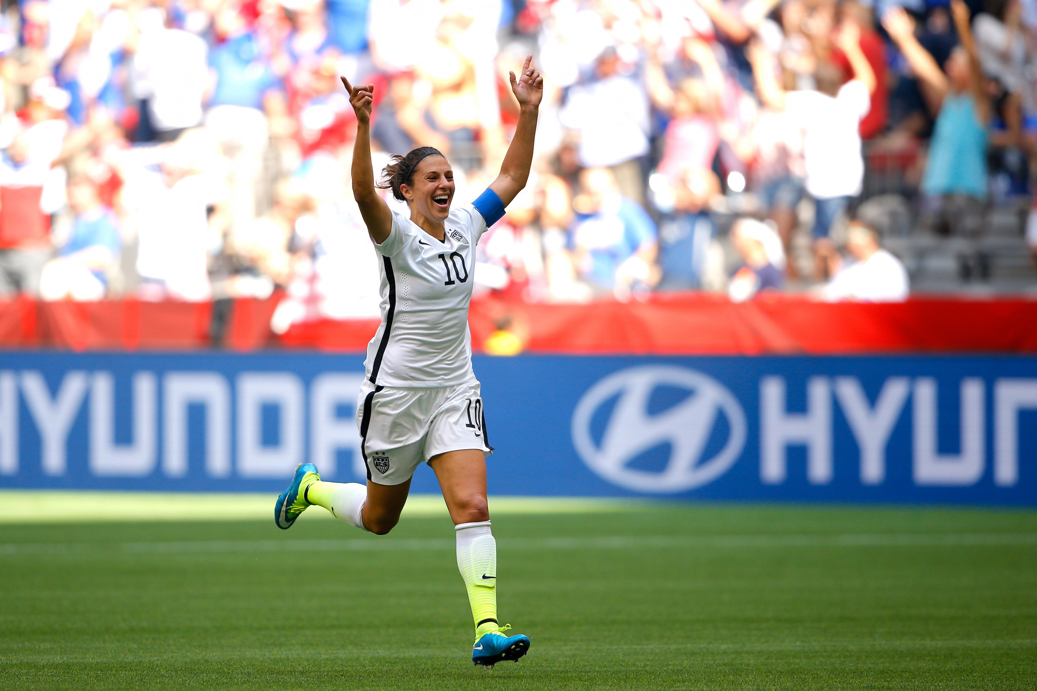 The 2015 World Cup final was arguably the finest hour of Carli Lloyd's career, as she scored a hat-trick inside 16 minutes ©Getty Images