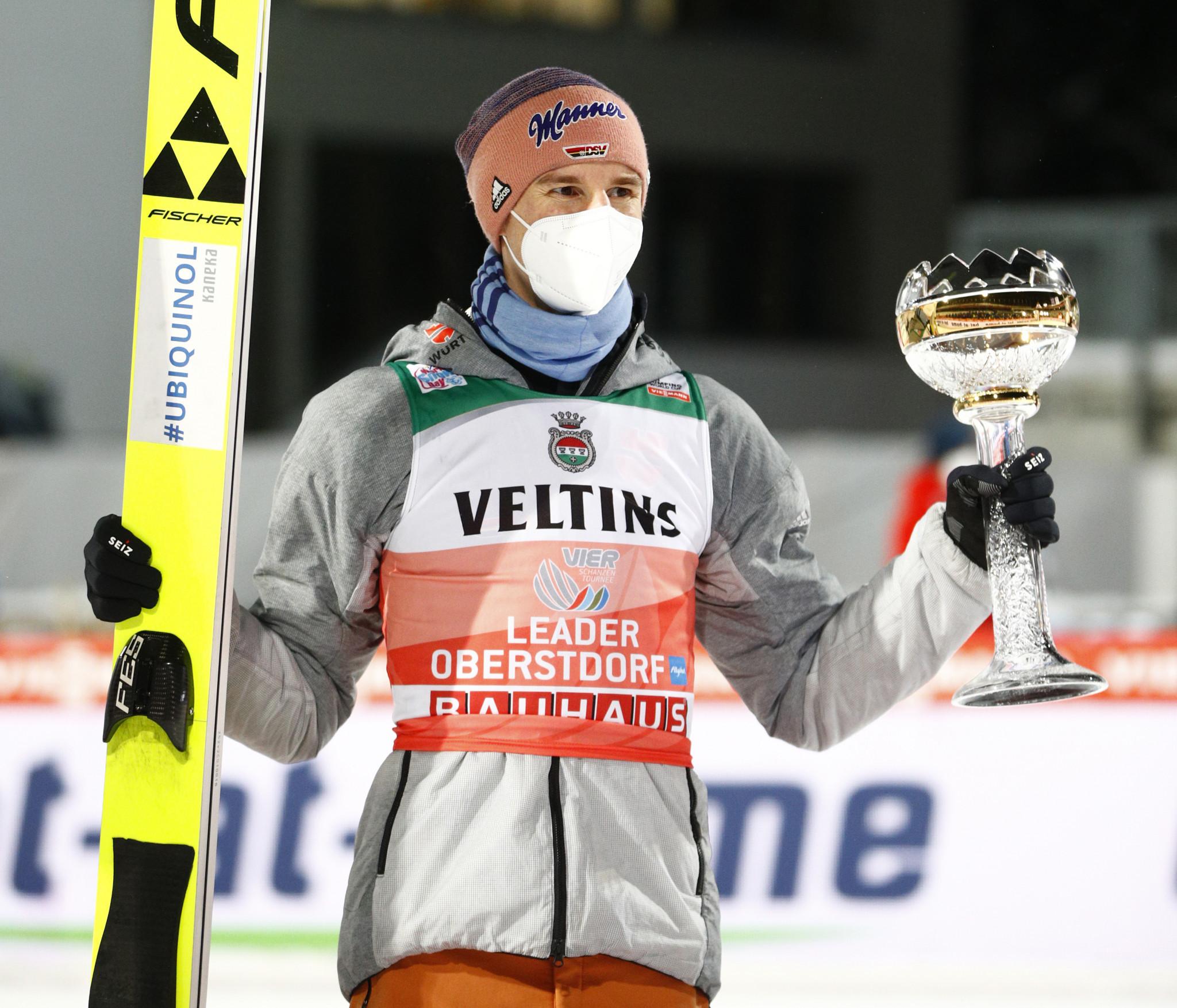 Geiger ends Granerud run on first Four Hills Tournament event in Oberstdorf