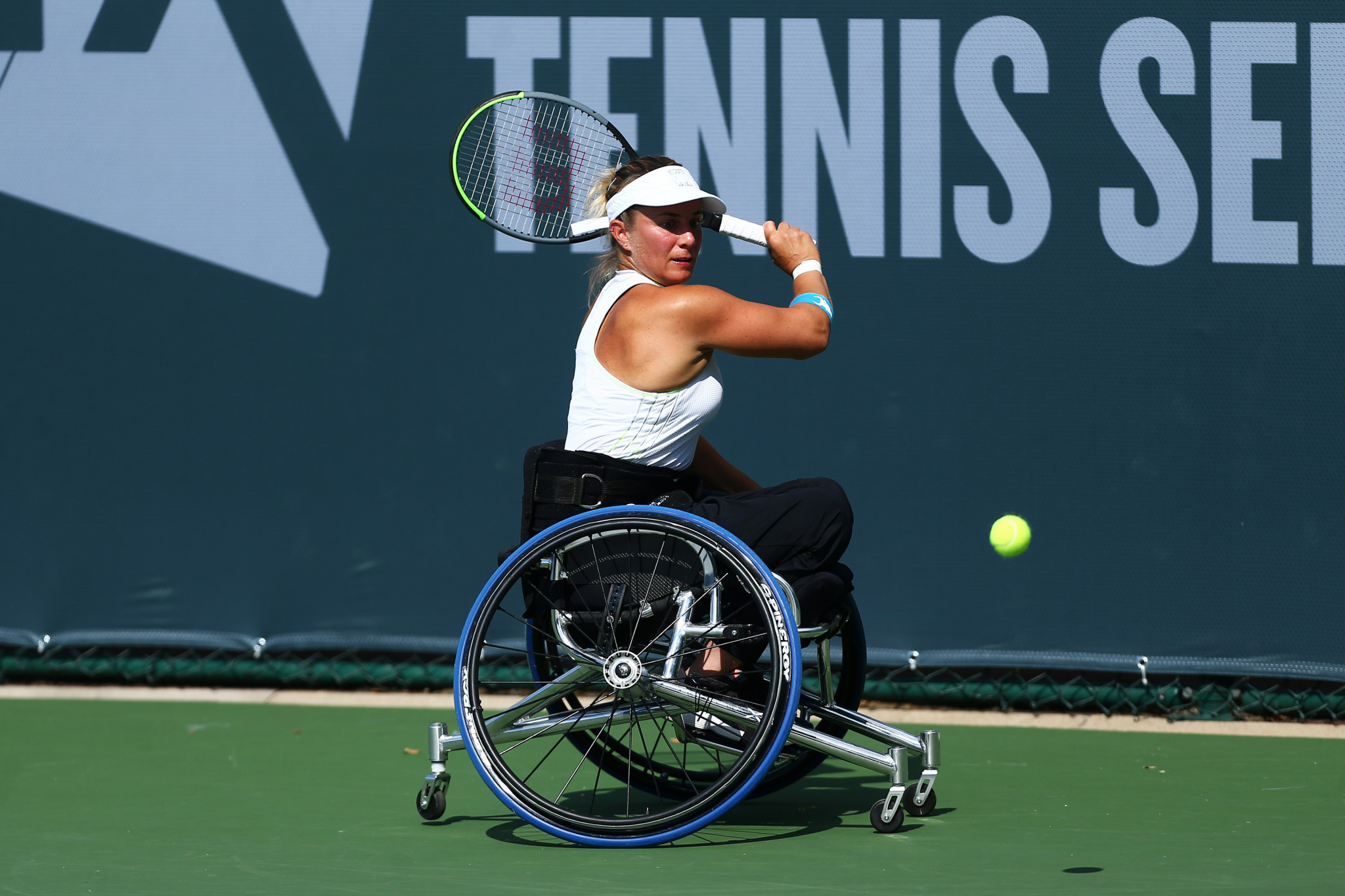 Britain's Lucy Shuker is set to serve another two-year term after joining the Wheelchair Tennis Player Council when it was formed in 2018 ©Getty Images