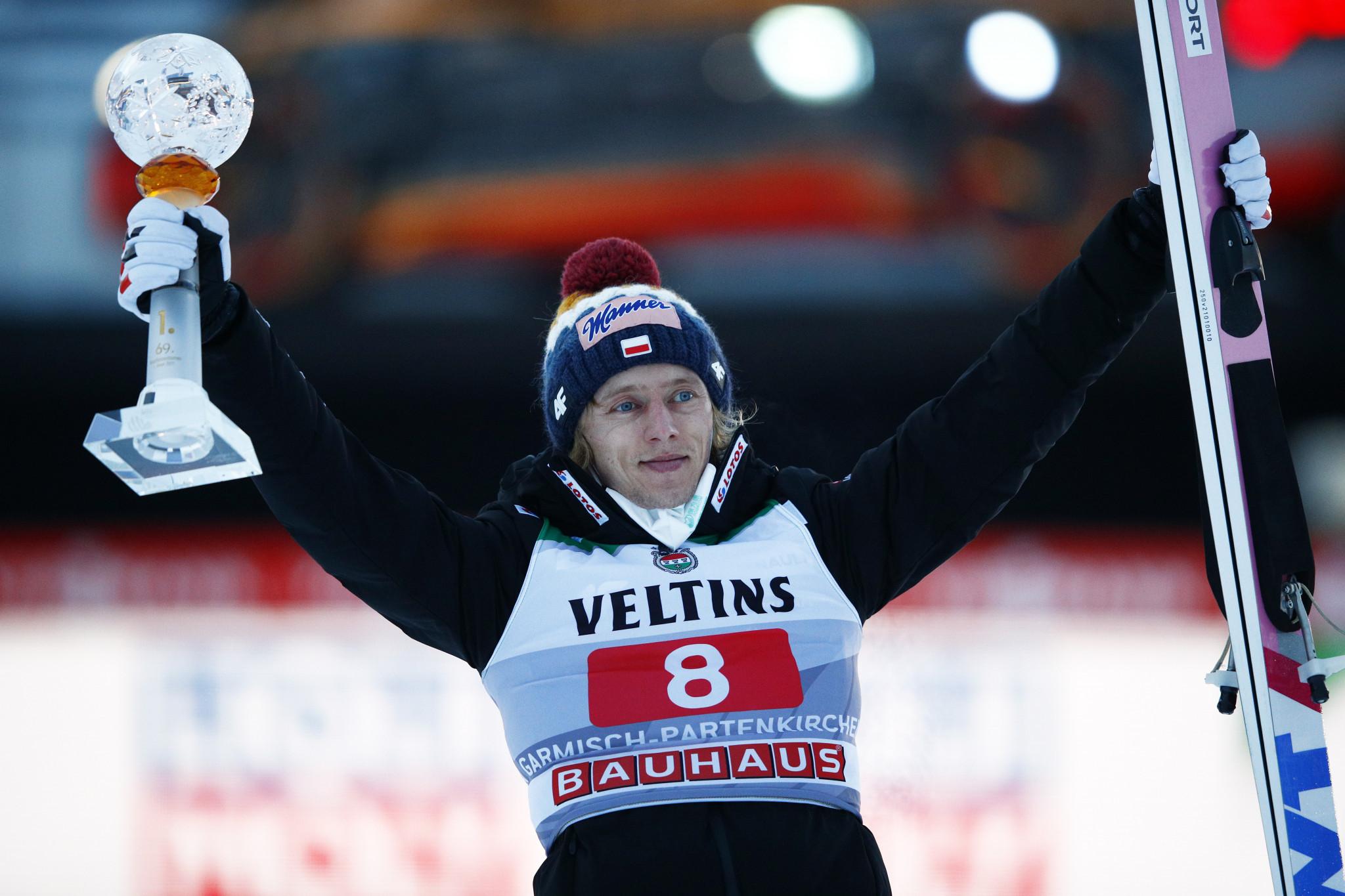 Kubacki breaks hill record at Four Hills Tournament leg in Garmisch-Partenkirchen