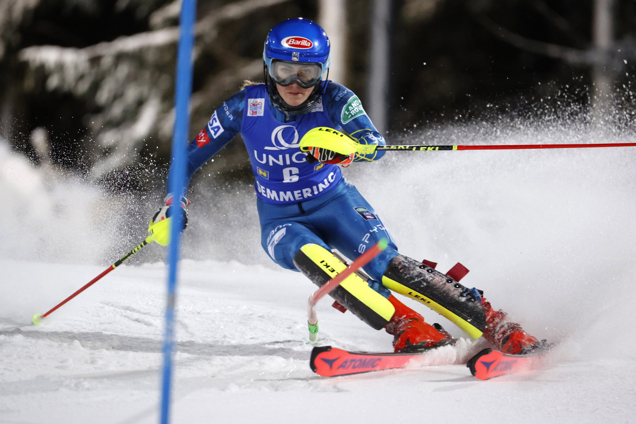 Mikaela Shiffrin praised organisers in Zagreb for ensuring competition could take place ©Getty Images