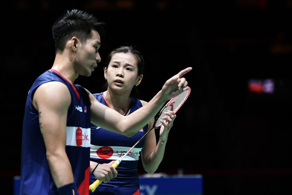 Olympic mixed doubles silver medallists reunite with coach prior to Tokyo 2020