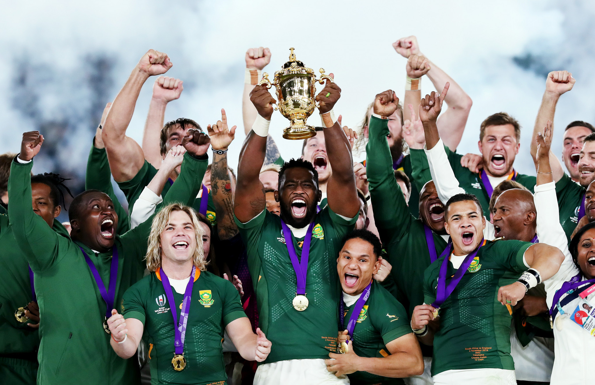 South Africa have not played a match since winning the World Cup in 2019 ©Getty Images