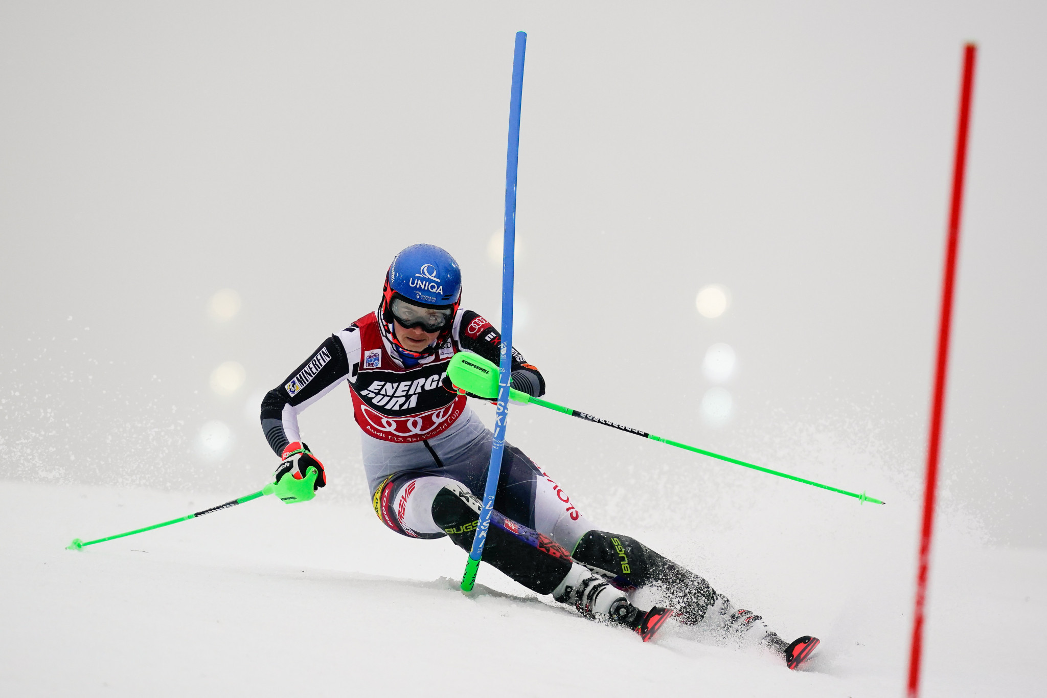 Petra Vlhová maintained her place at the top of the FIS Alpine Ski World Cup standings with victory in Zagreb ©Getty Images