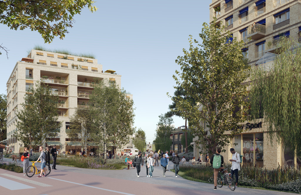 An artist's impression of the Plateau sector ©Ametis /Ideom/Gaïa Promotion