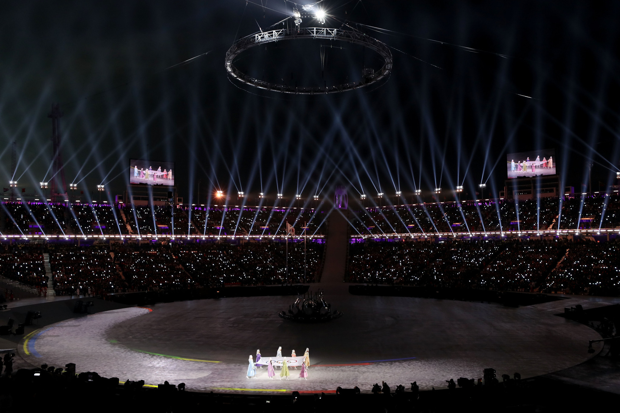 The Opening Ceremony of the Pyeongchang 2018 Winter Olympic Games was targeted by cyber-attacks ©Getty Images