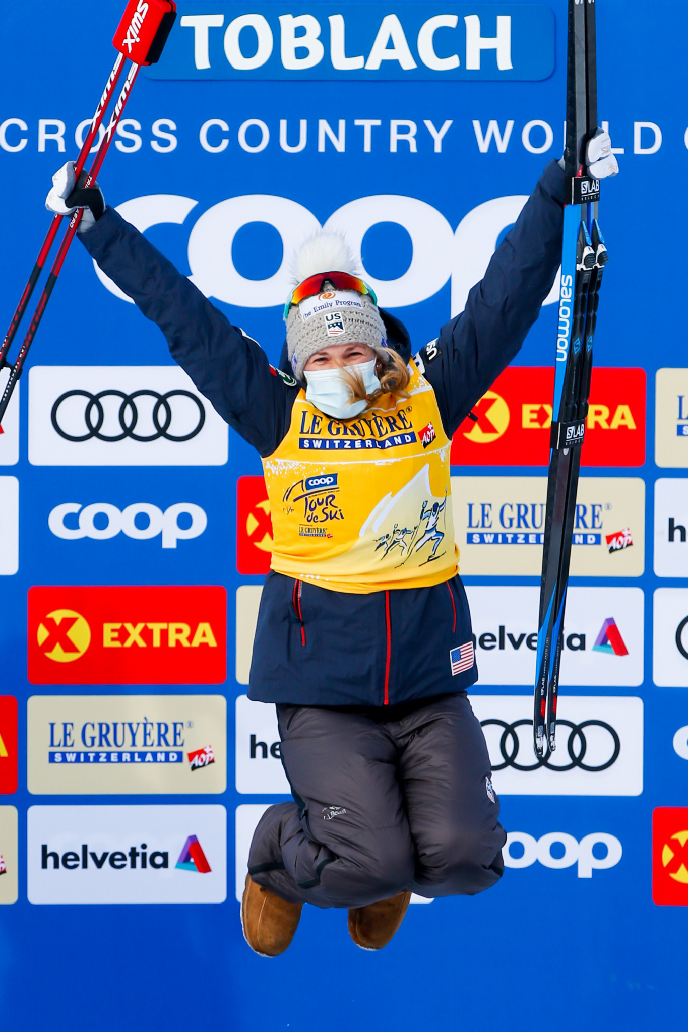 Diggins and Bolshunov triumph in Toblach to lead FIS Tour de Ski standings at halfway stage