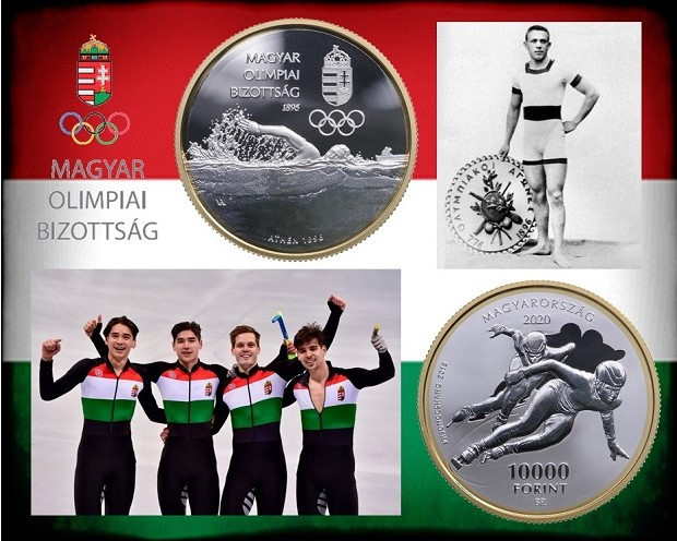 Collector coins issued to mark 125 years of the Hungarian Olympic Committee