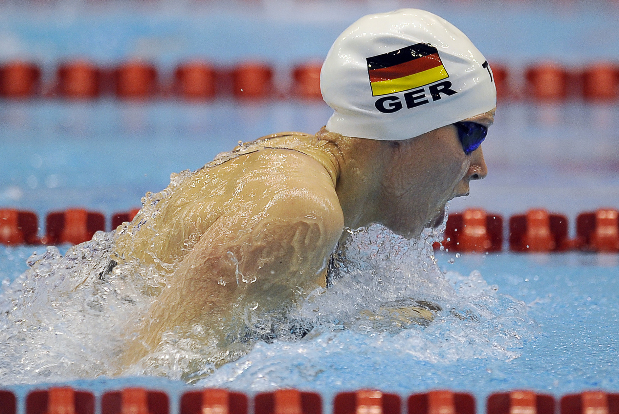 Dorothea Brandt, head of swimming at adh, competed at Athens 2004 and Rio 2016 ©Getty Images