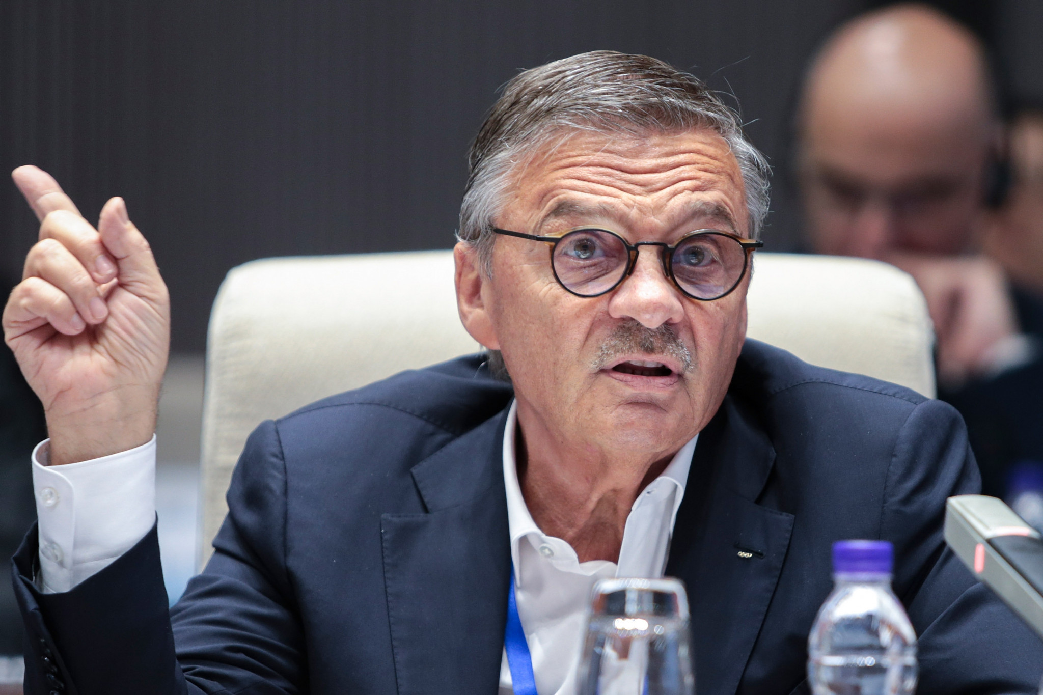 IIHF President René Fasel has admitted the organisation is in talks with countries which could replace Belarus as co-host for this year's Men's World Championship ©Getty Images