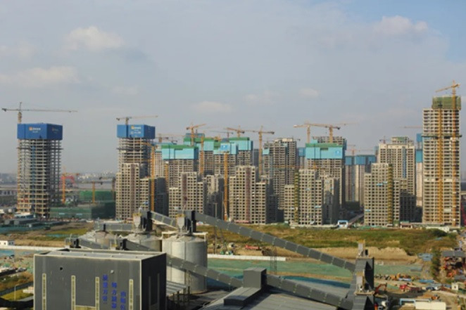 The topping out construction of the Village was completed in November ©Hangzhou 2022