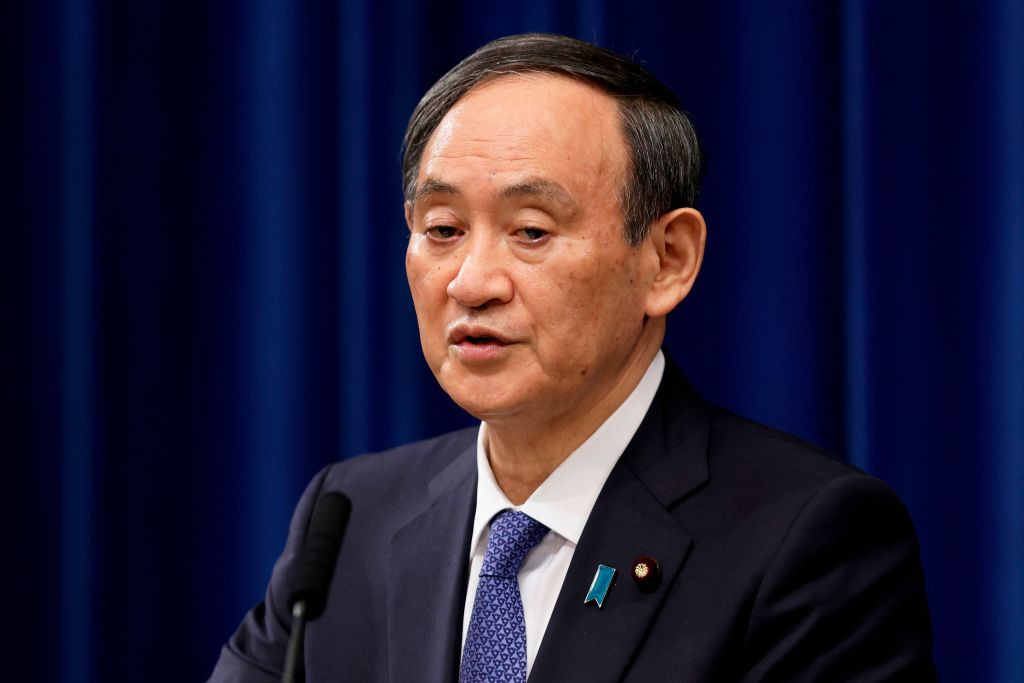 Japanese Prime Minister Yoshihide Suga declared the state of emergency today ©Getty Images