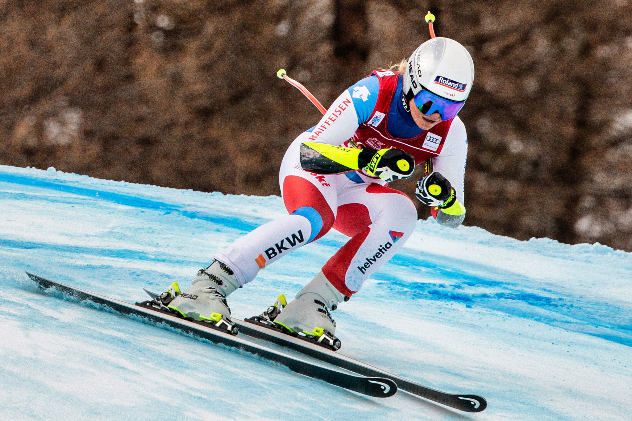 Corinne Suter will hope to secure victory in St Anton ©Getty Images