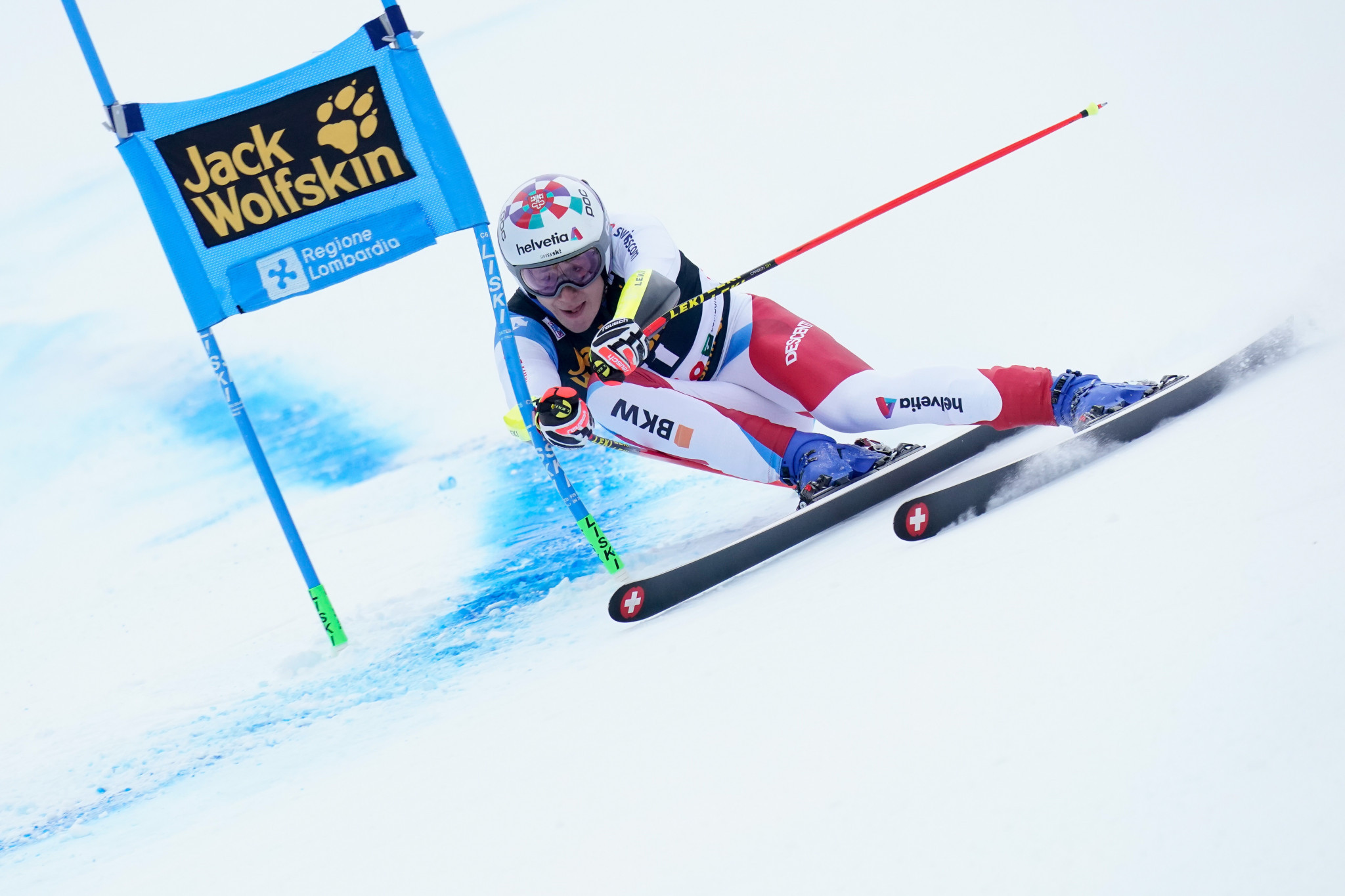 Switzerland's Marco Odermatt leads the men's giant slalom standings after four races ©Getty Images