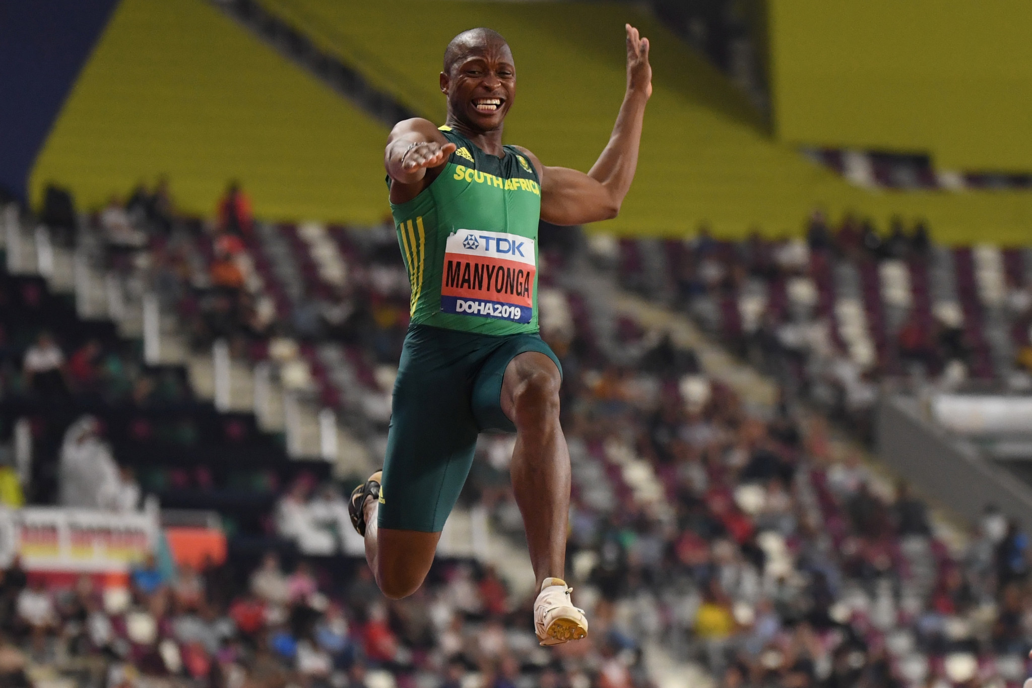 Luvo Manyonga could miss the Tokyo 2020 Olympics and 2022 World Athletics Championships if he is found guilty of a whereabouts failure ©Getty Images