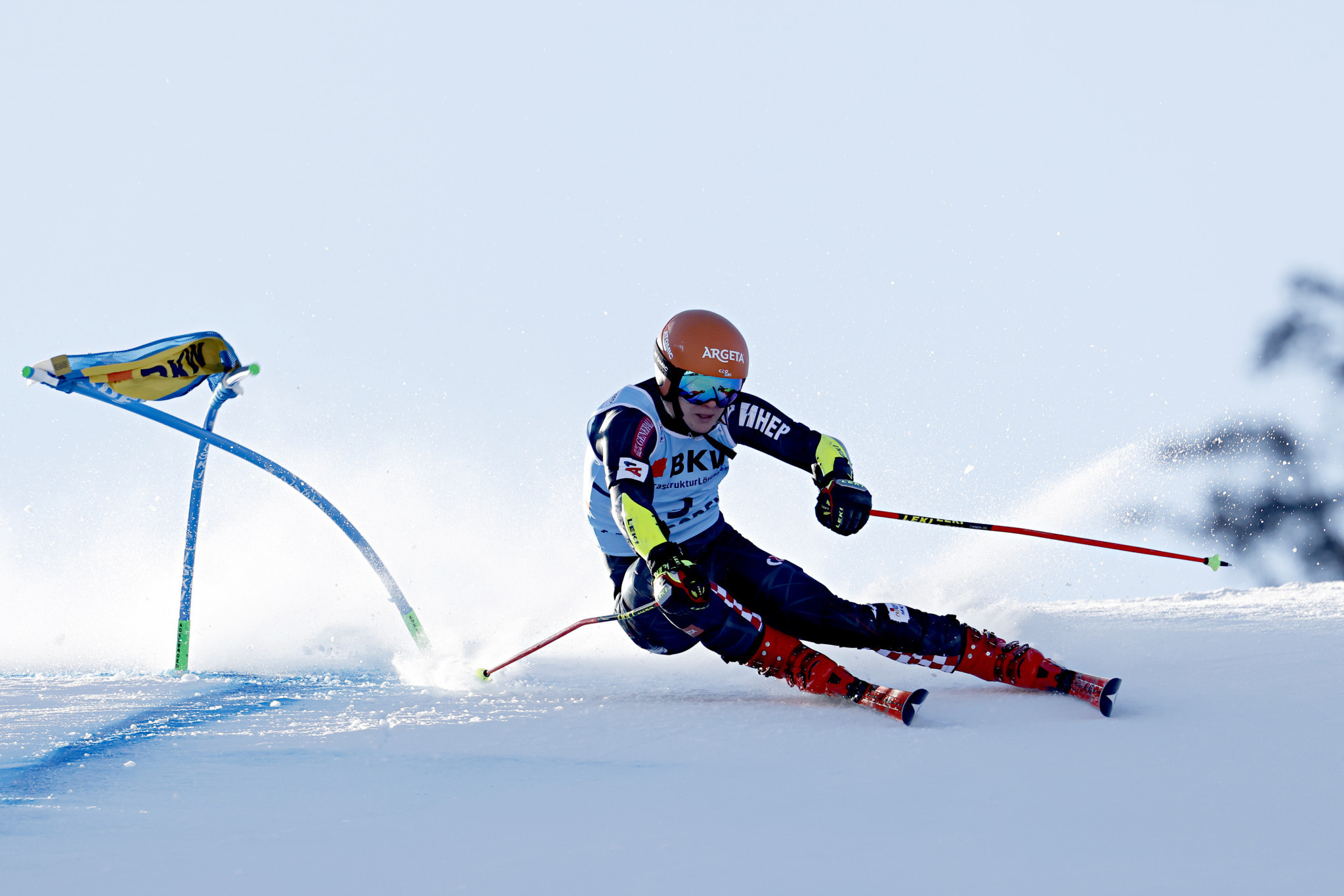 Croatia's Filip Zubcic finished as the runner-up in the first of two giant slalom races ©Getty Images