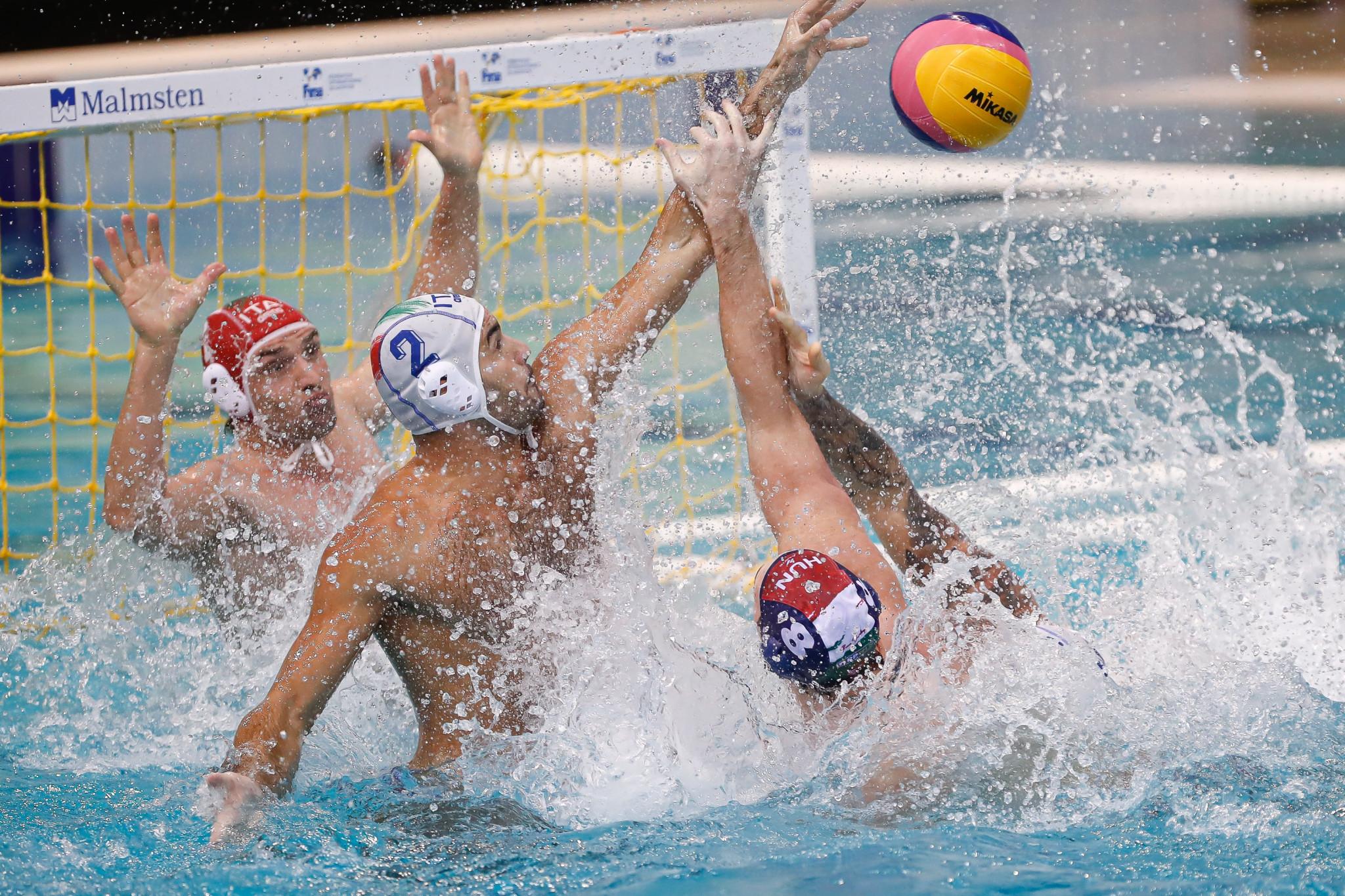 Italy beat Hungary 8-7 in the day's final FINA Men's Water Polo World League quarter-final ©FINA