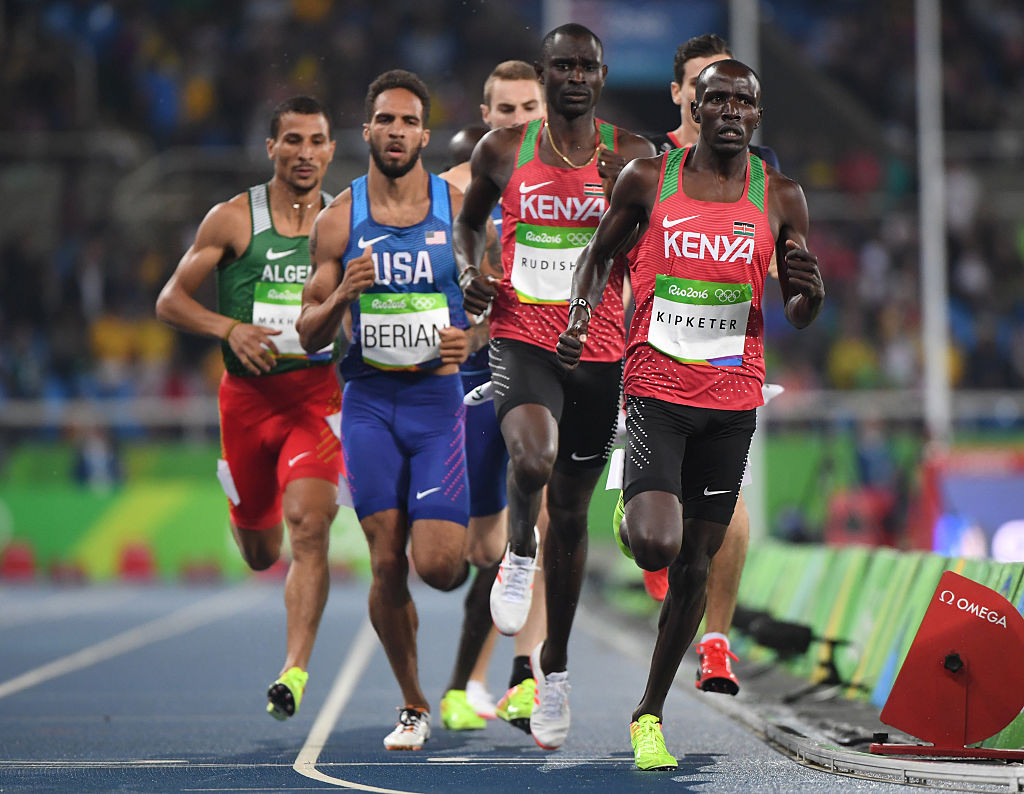 Alfred Kipketer, right, finished fifth in the 800m final at Rio 2016 ©Getty Images