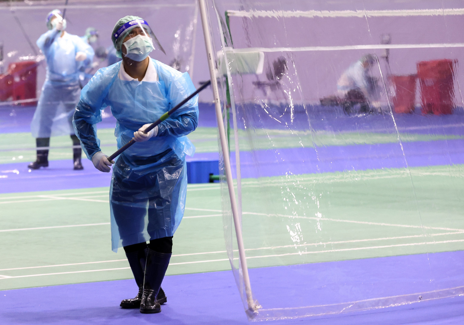 COVID-19 protocols for the Thailand cluster include frequent sanitisation of courts ©BWF