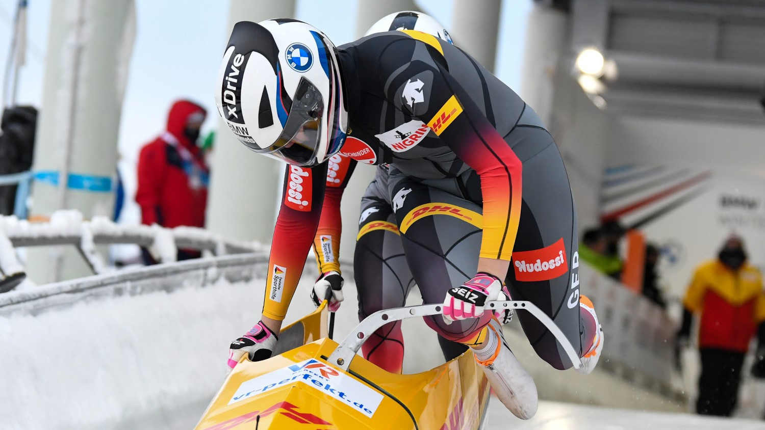 Nolte and Levi win European two-woman bobsleigh title