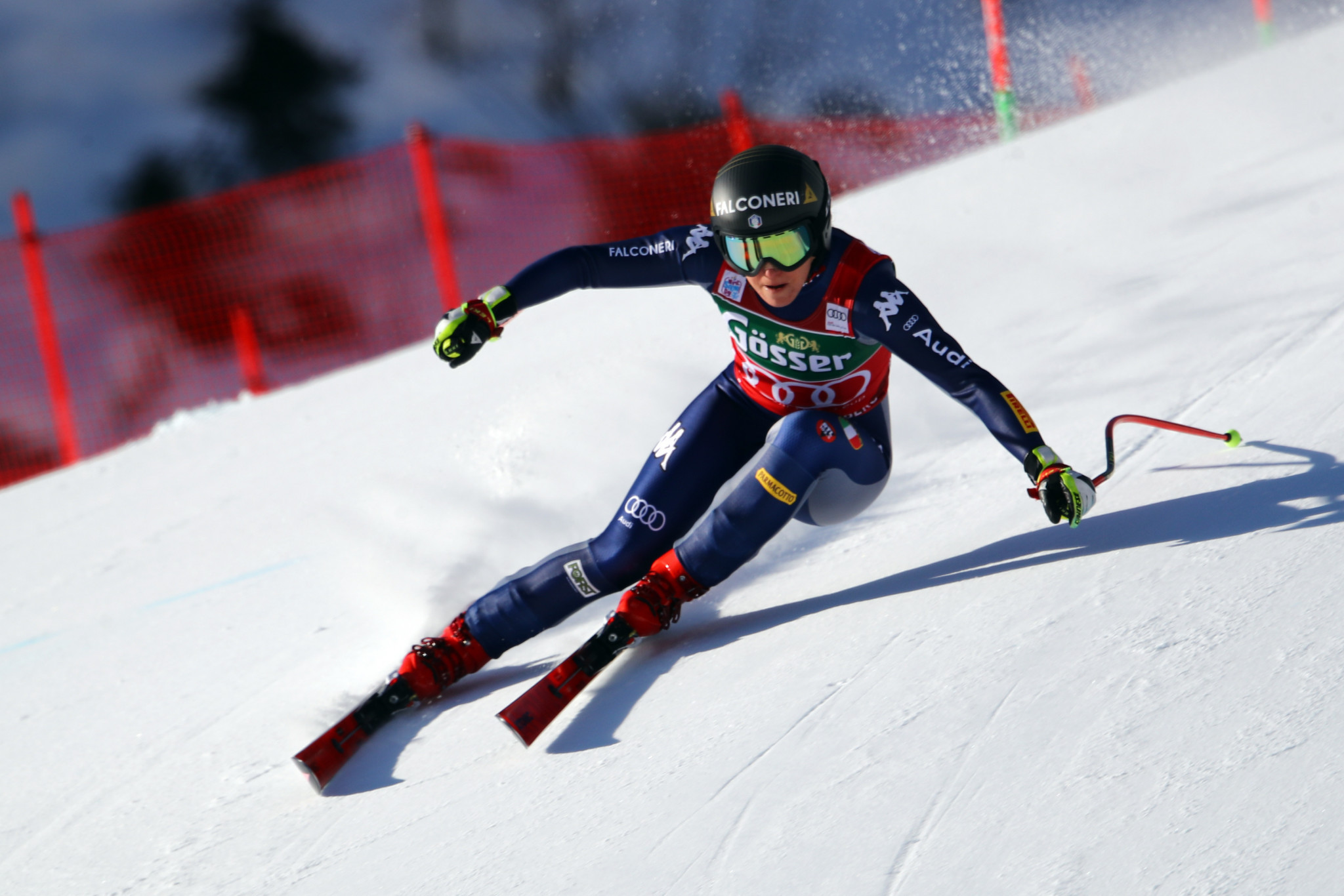 Sofia Goggia now has sole possession of the World Cup downhill standings ©Getty Images