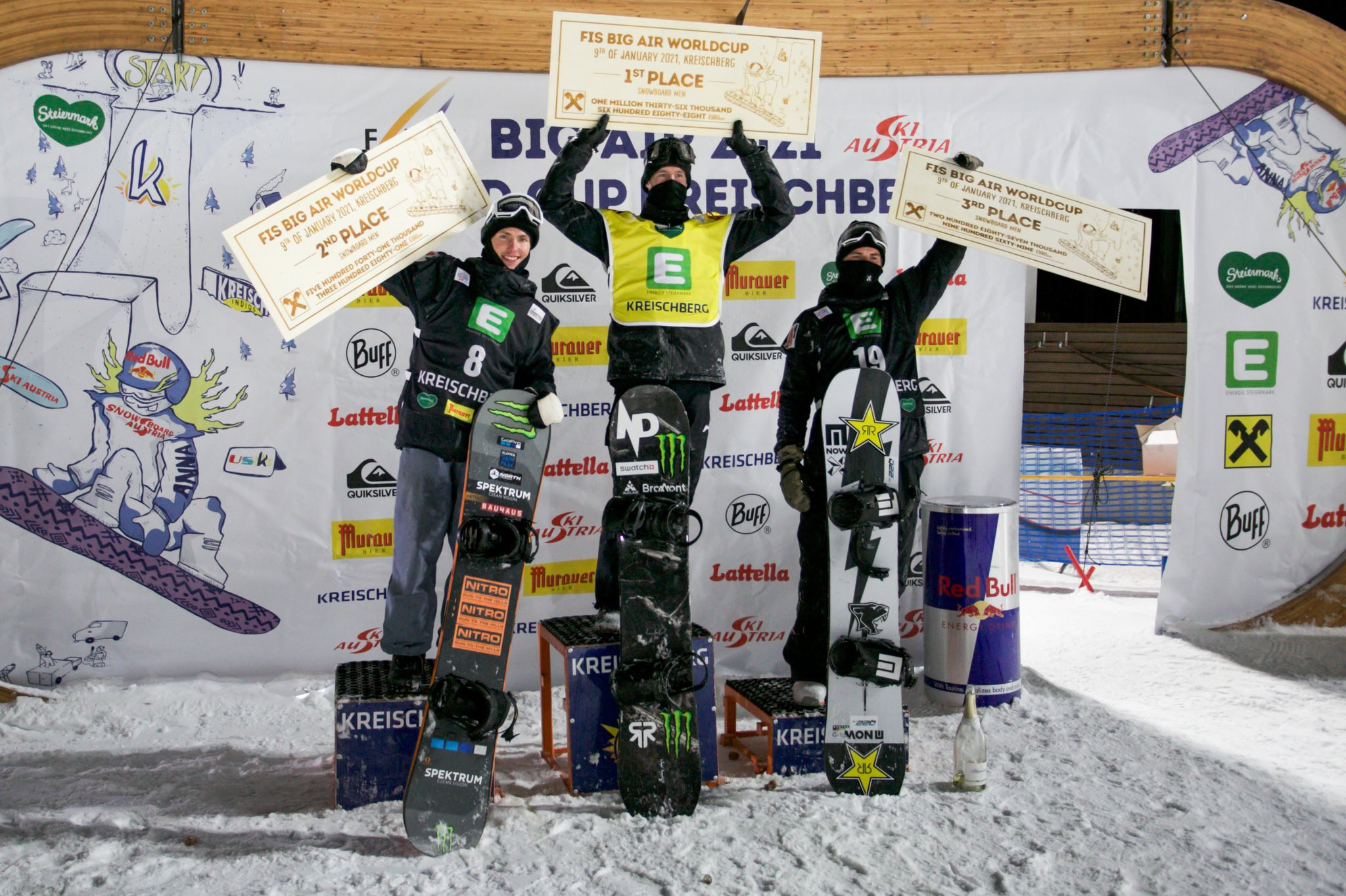Parrot and Sadowski Synnott take FIS Snowboard World Cup Big Air titles