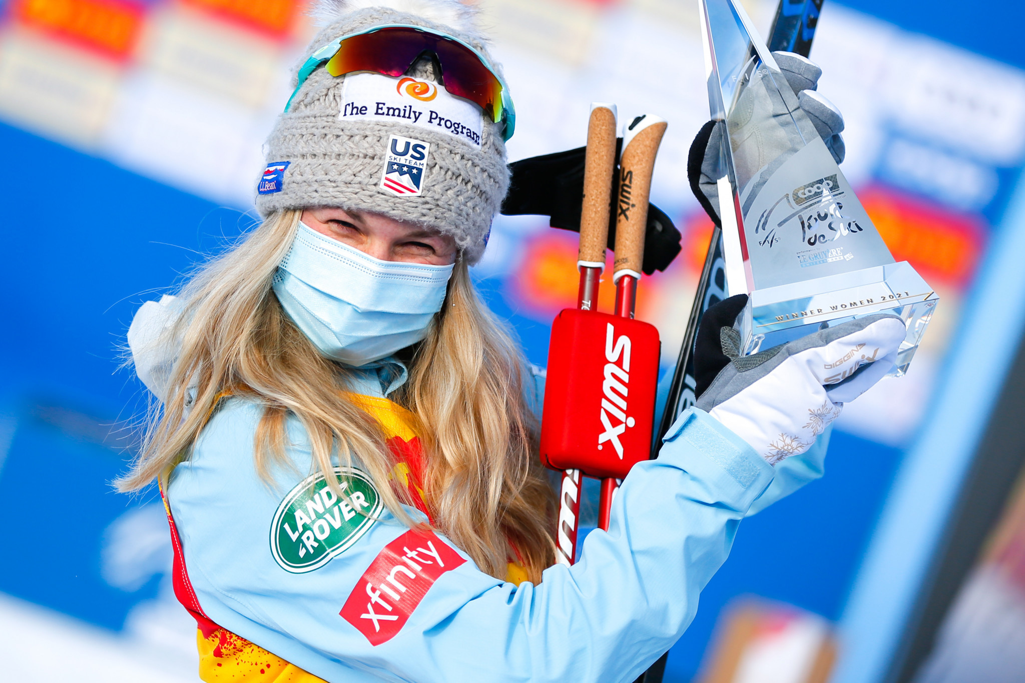 Jessie Diggins of the United States became the first non-European athlete to win the Tour de Ski ©Getty Images