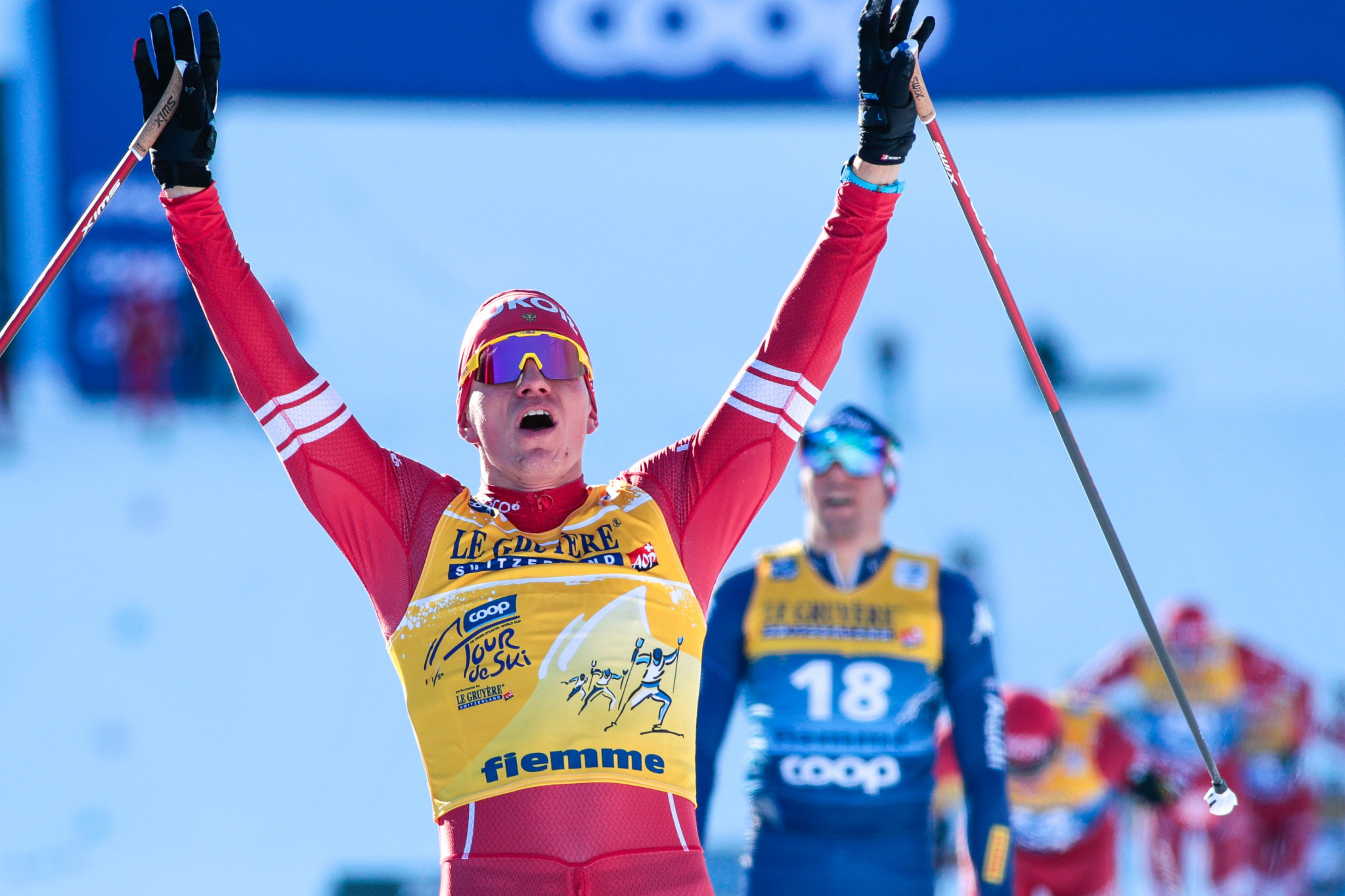 Russia's Alexander Bolshunov of Russia retained the men's Tour de Ski title ©Getty Images