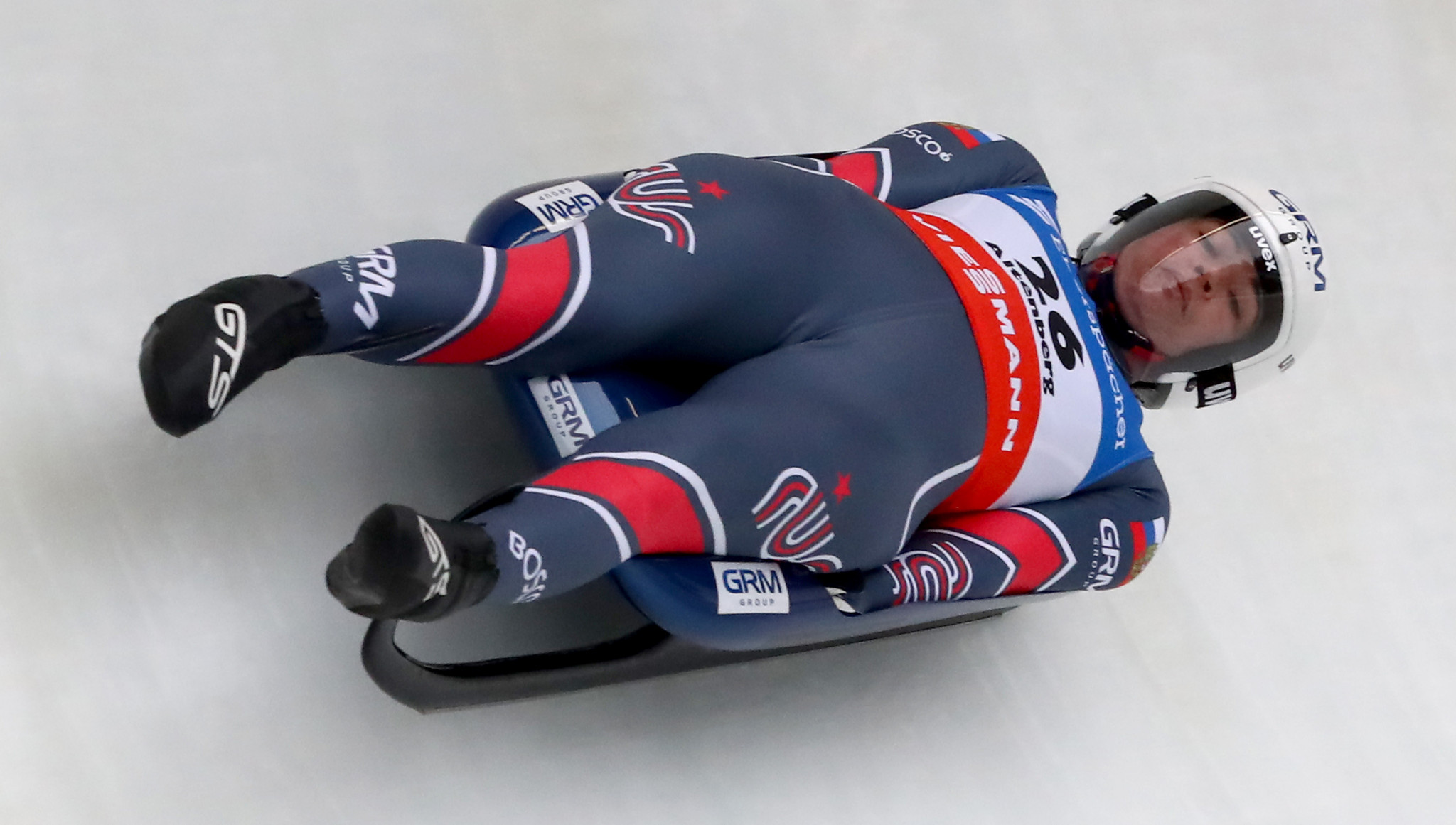 Tatyana Ivanova of Russia earned her fifth European luge title ©Getty Images