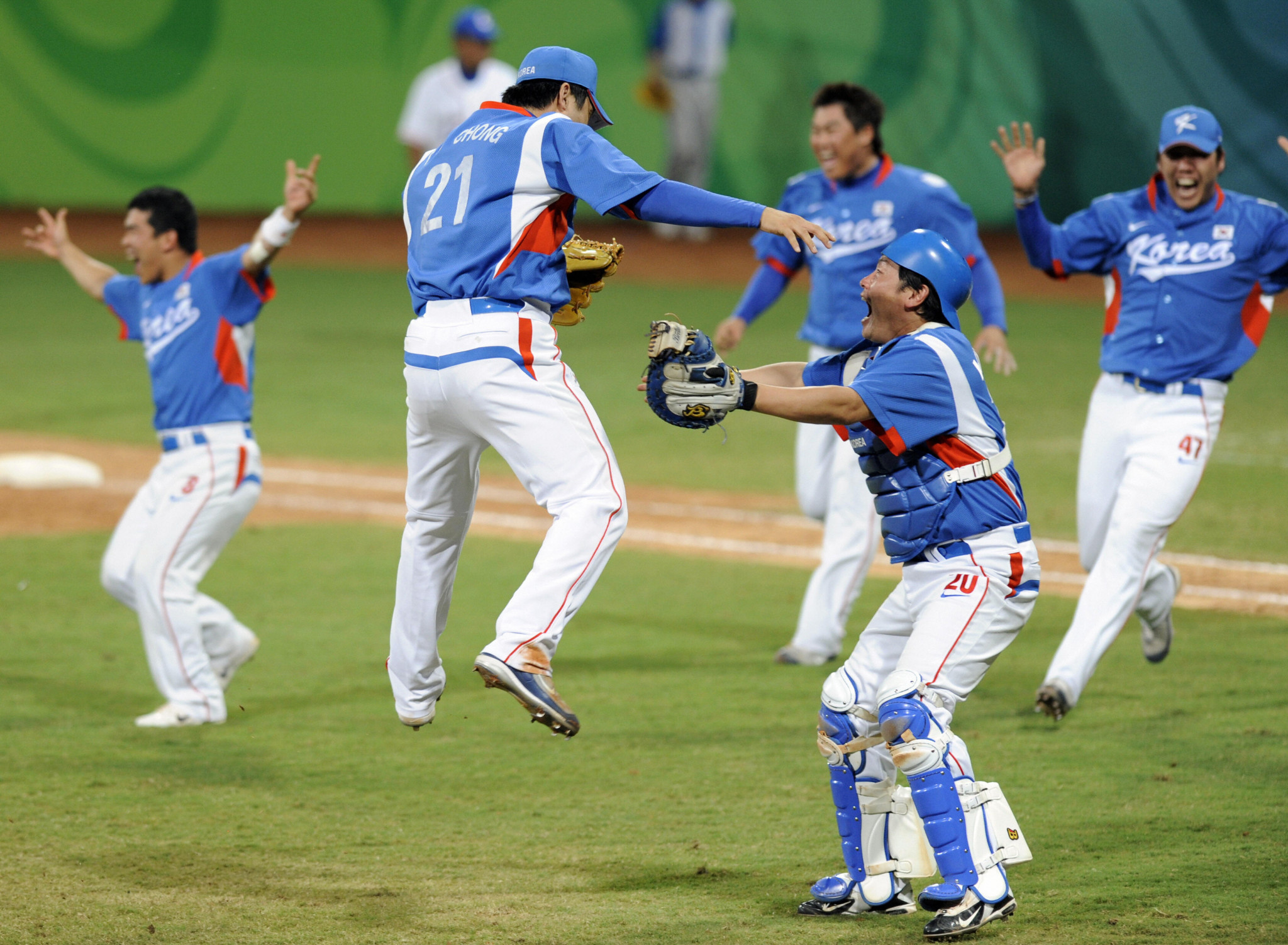 South Korea beat Cuba in the 2008 Olympic baseball final ©Getty Images
