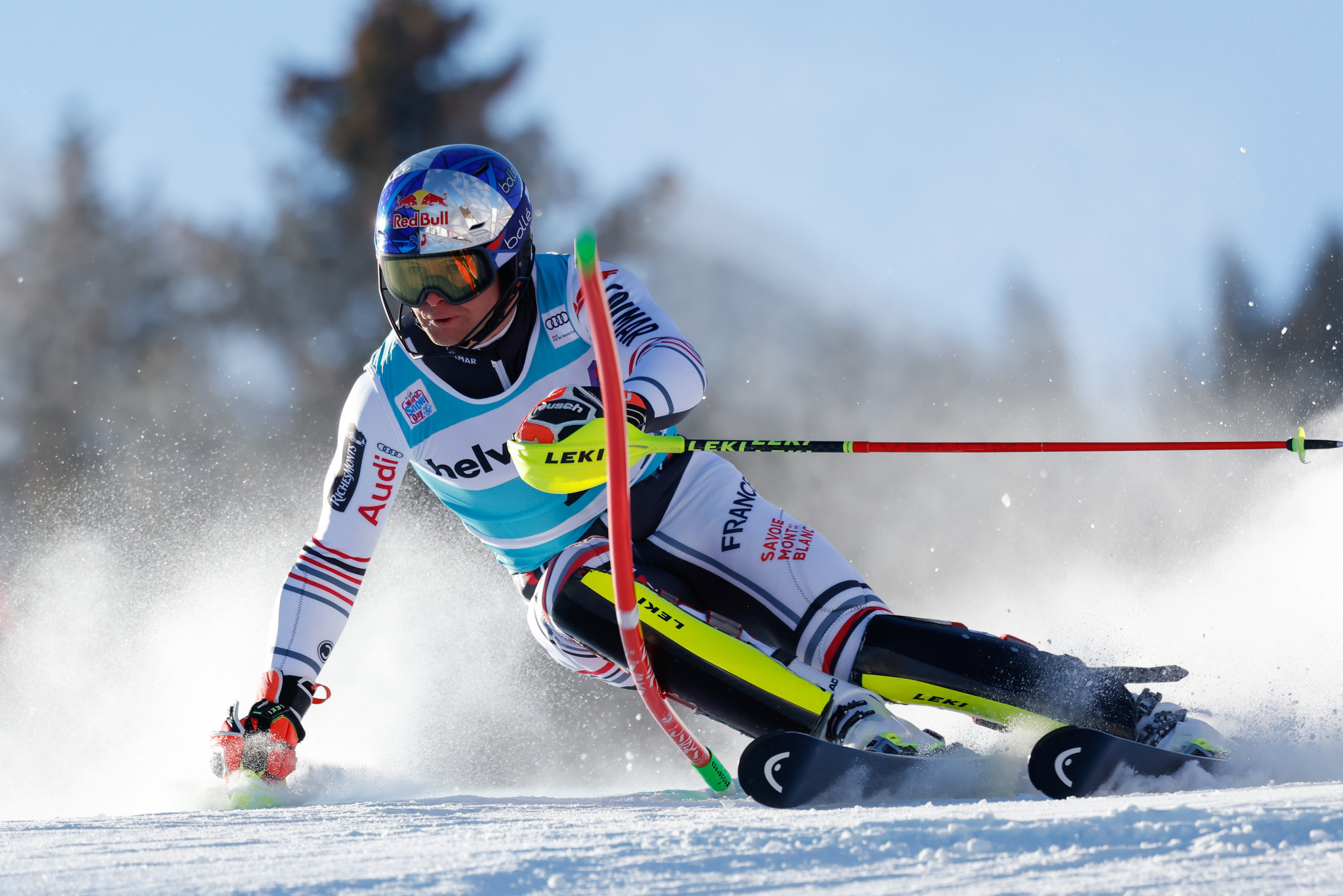 Alexis Pinturault of France is currently leading the overall FIS Alpine Ski World Cup standings ©Getty Images