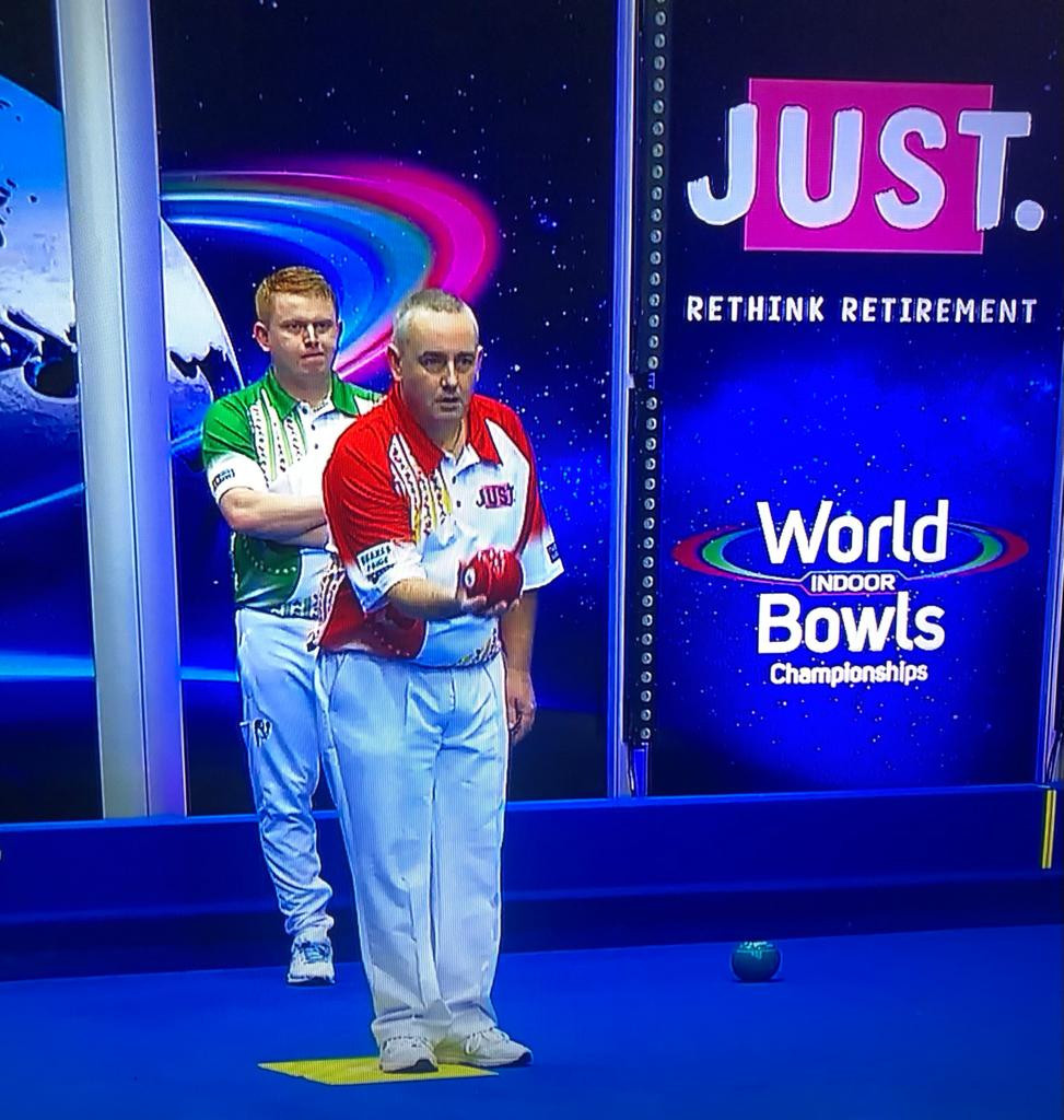 Skelton wins first open singles match at World Indoor Bowls Championships