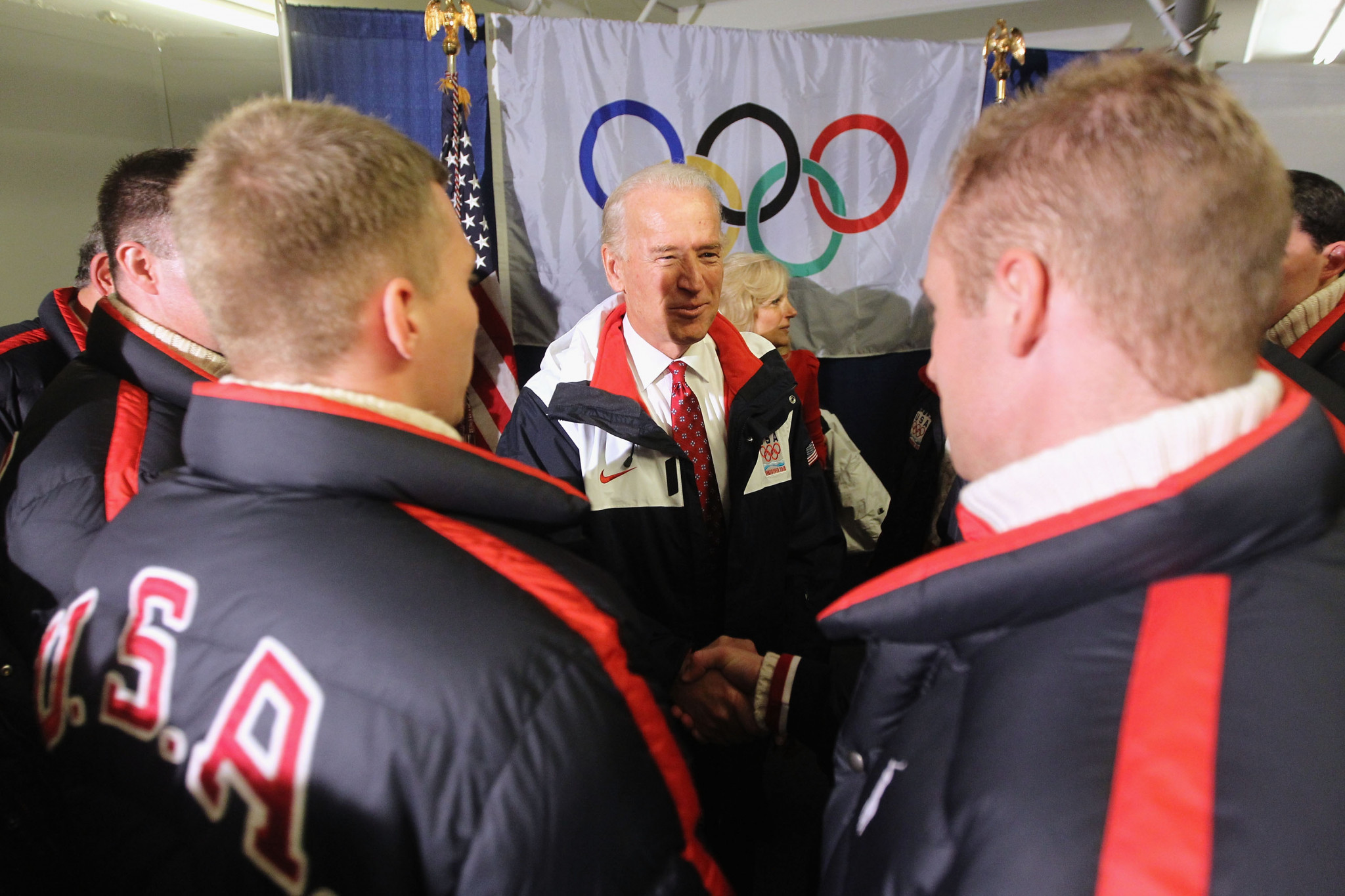 Joe Biden attended part of the Vancouver 2010 Winter Olympics ©Getty Images
