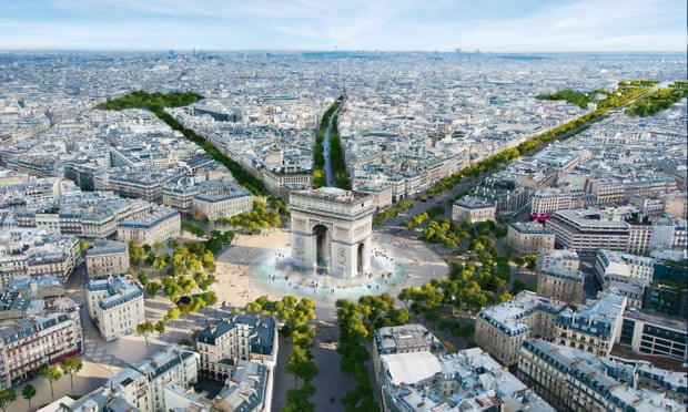 "Champs-Élysées to become ""extraordinary garden"" after Paris 2024"