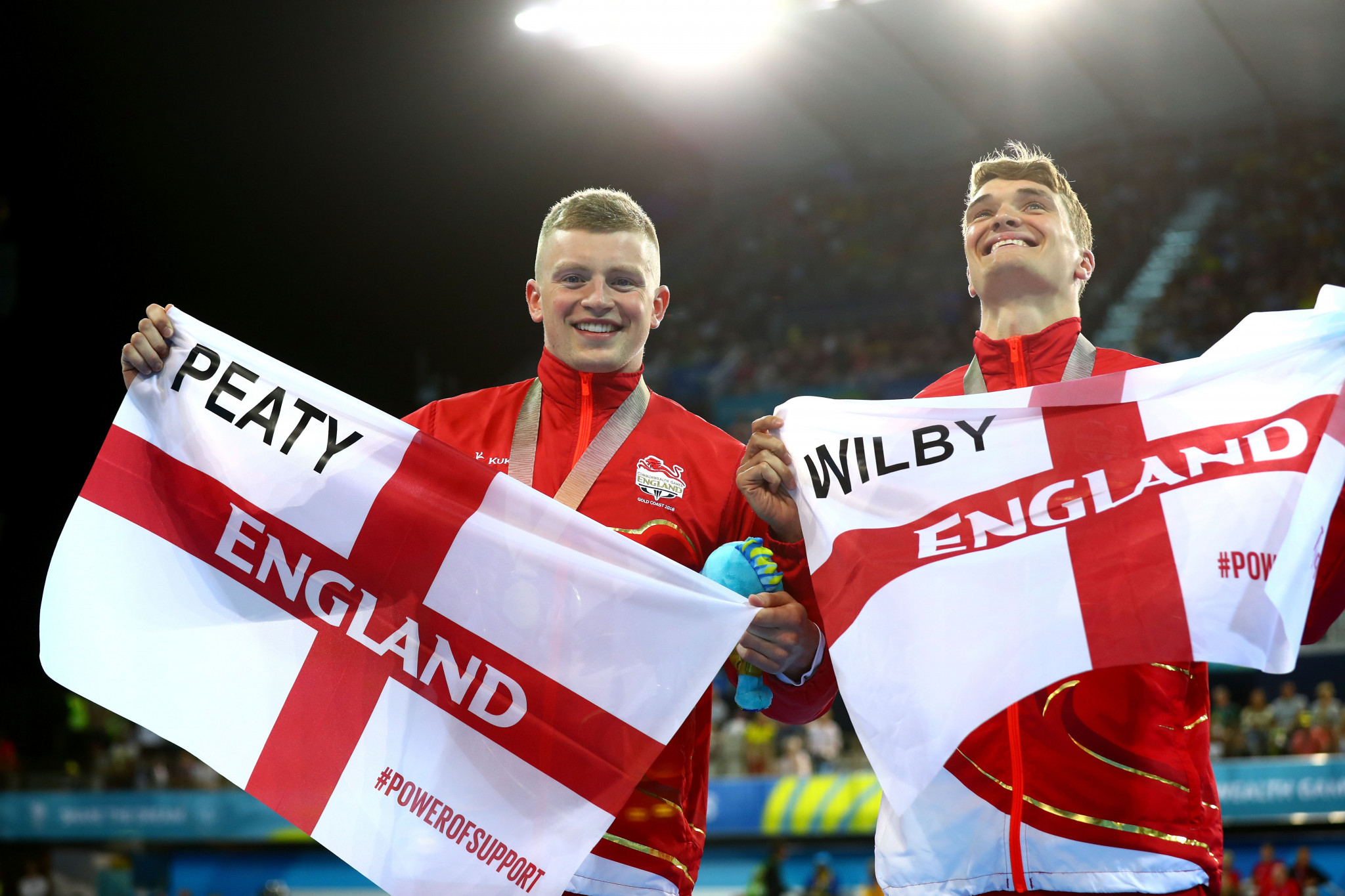 Adam Peaty and James Wilby have been named in England's 85-strong swimming squad to prepare for Birmingham 2022 ©Getty Images