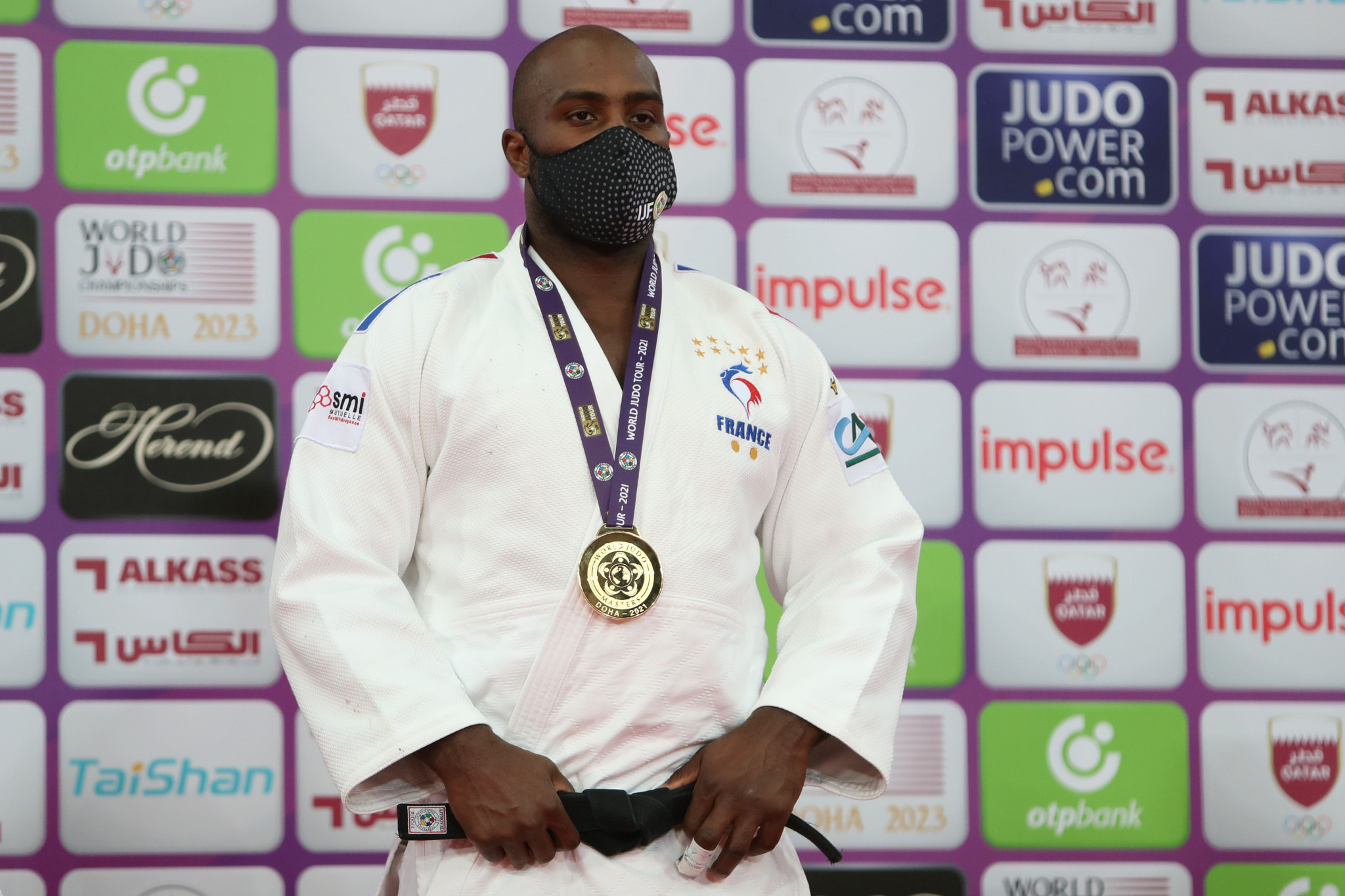 Teddy Riner won gold at the IJF World Judo Masters in Doha ©Getty Images