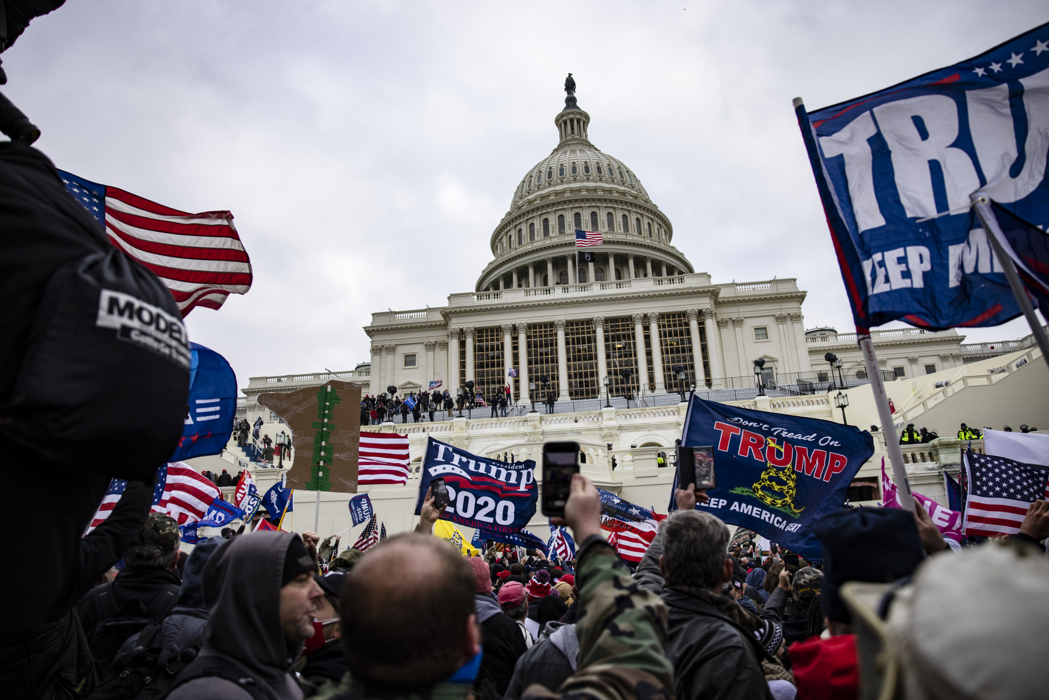 Dozens have been charged after Donald Trump supporters overran the Capitol Building in an attempt to stop Joe Biden becoming the next President of the United States ©Getty Images