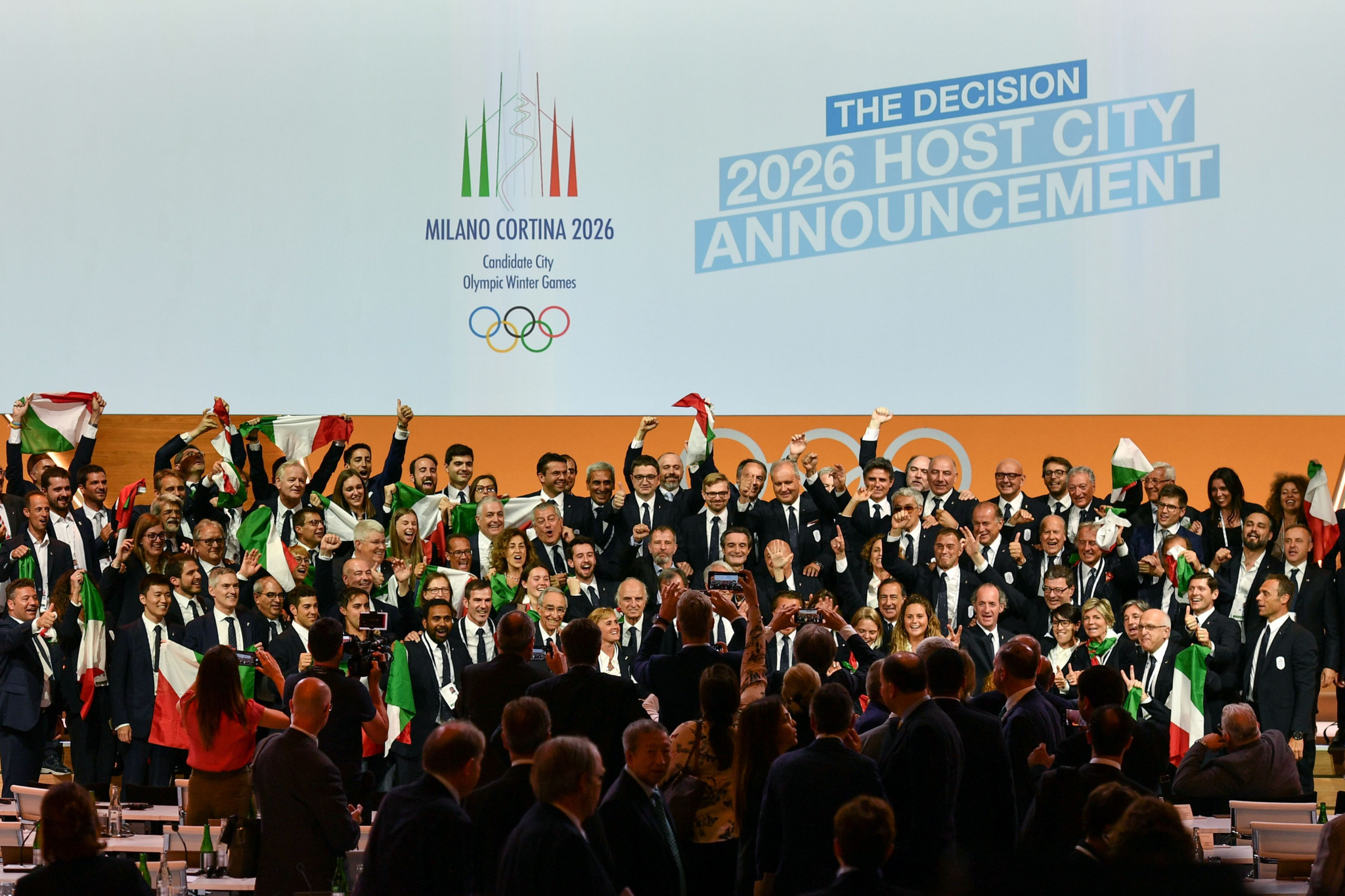 Milan and Cortina d'Ampezzo won the right to stage the 2026 Games in June 2019 ©Getty Images