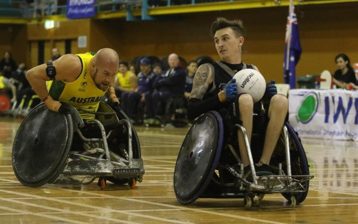 """Co-captain Cody Everson believes New Zealand's wheelchair rugby team will be the """"dark horses"""" at Tokyo 2020 ©IWRF"""