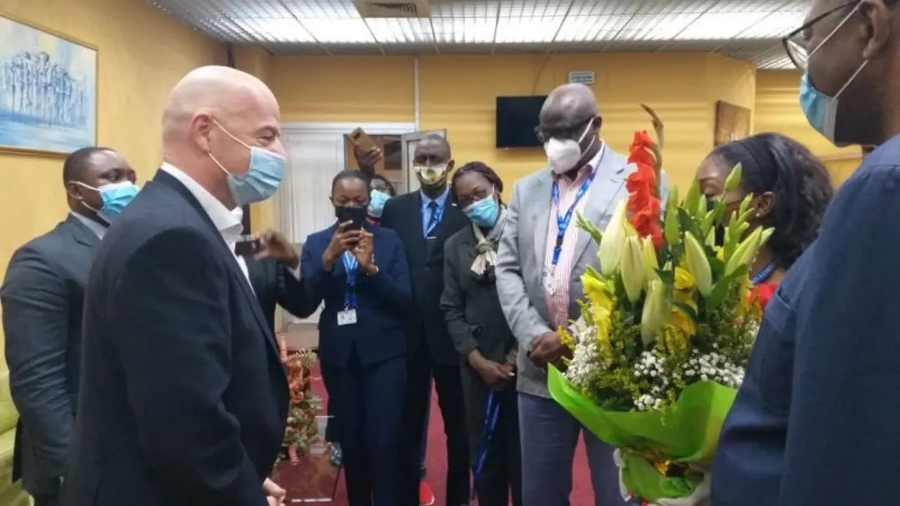 FIFA President Infantino makes first visit to Cameroon for start of Total African Nations Championship