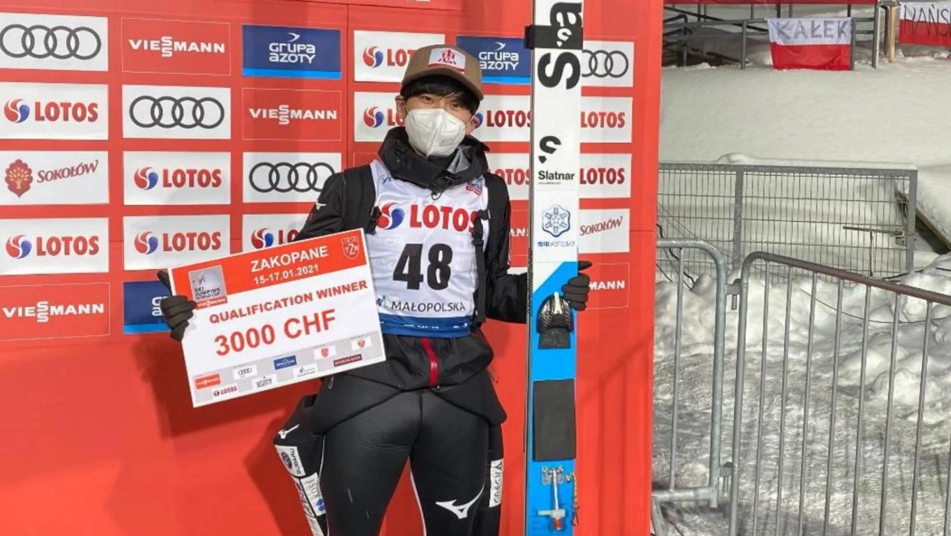 Yukiya Sato topped the standings in qualifying for the latest FIS Ski Jumping World Cup in Zakopane ©FIS