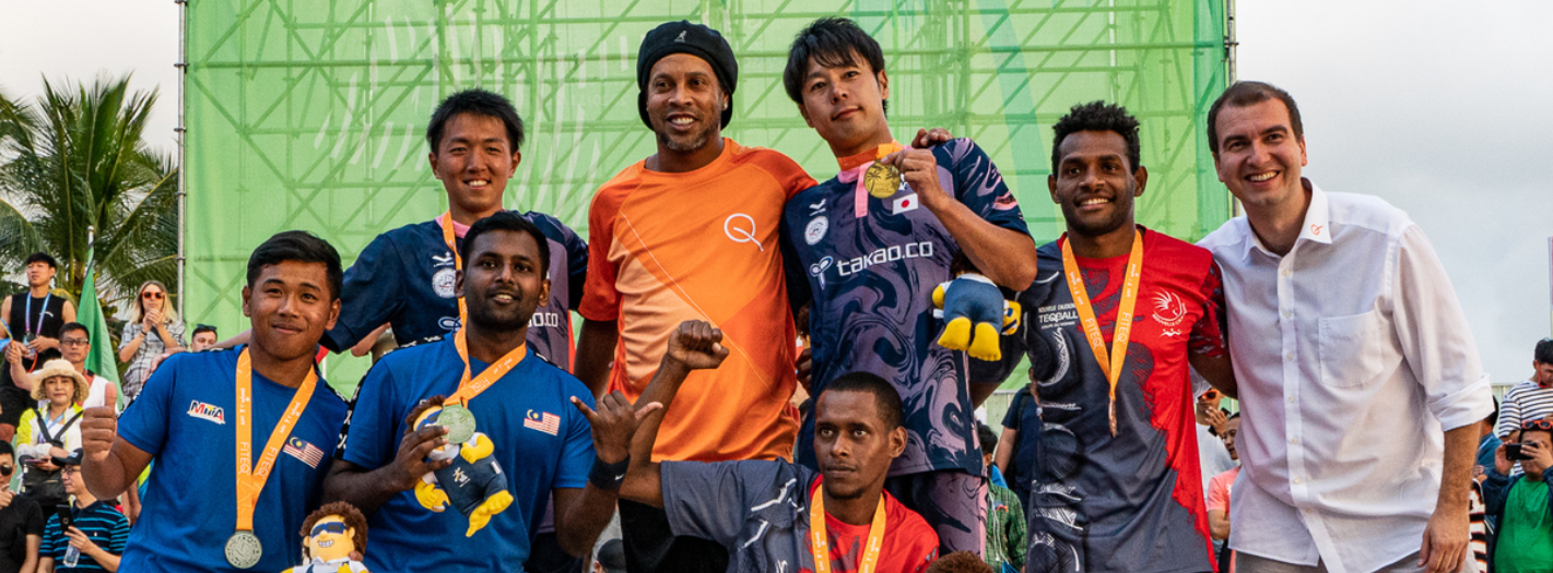 Teqball is due to make its Asian Beach Games medal debut at Sanya 2020 ©FITEQ