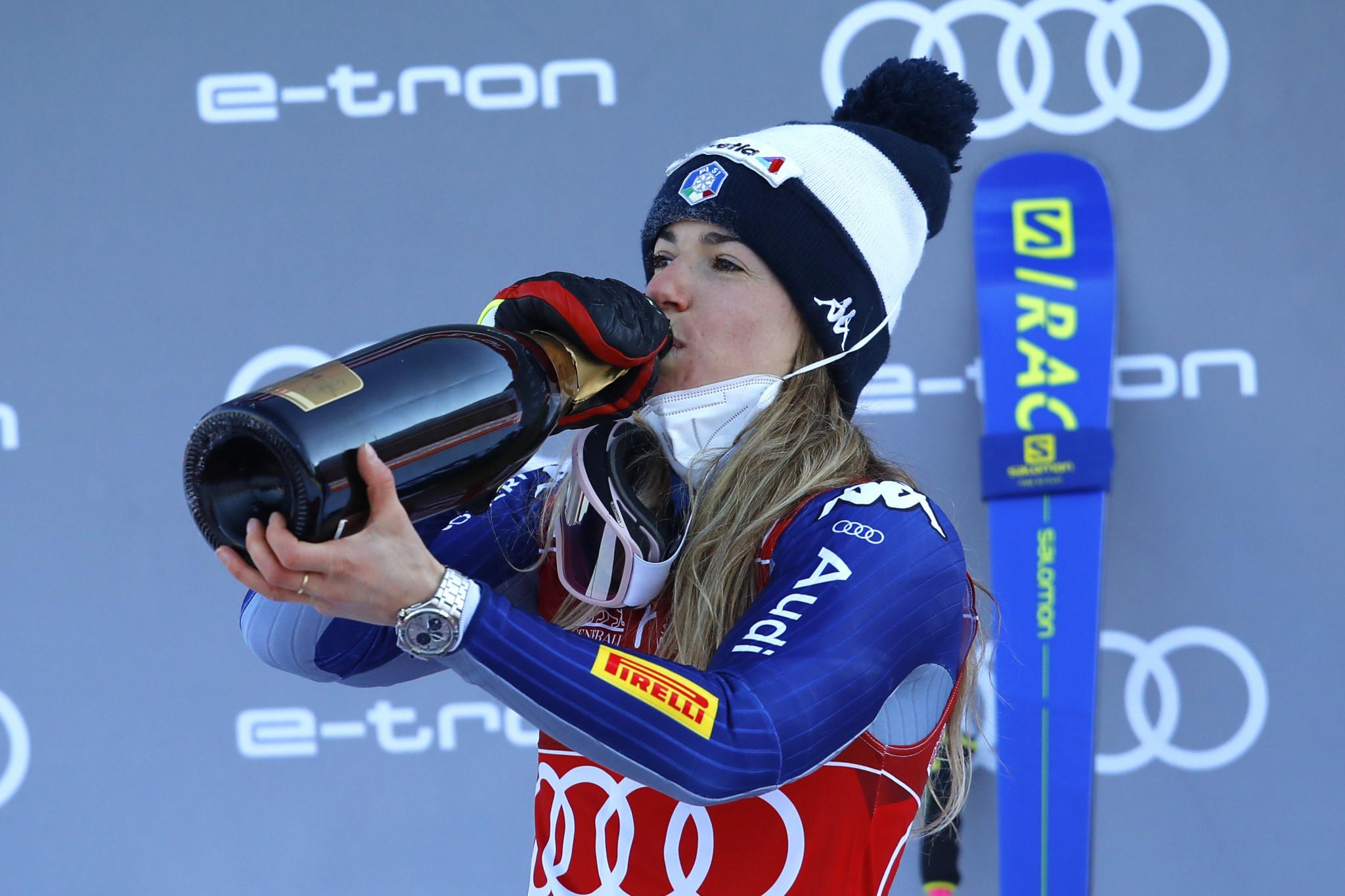 Marta Bassino has three giant slalom World Cup wins this season ©Getty Images