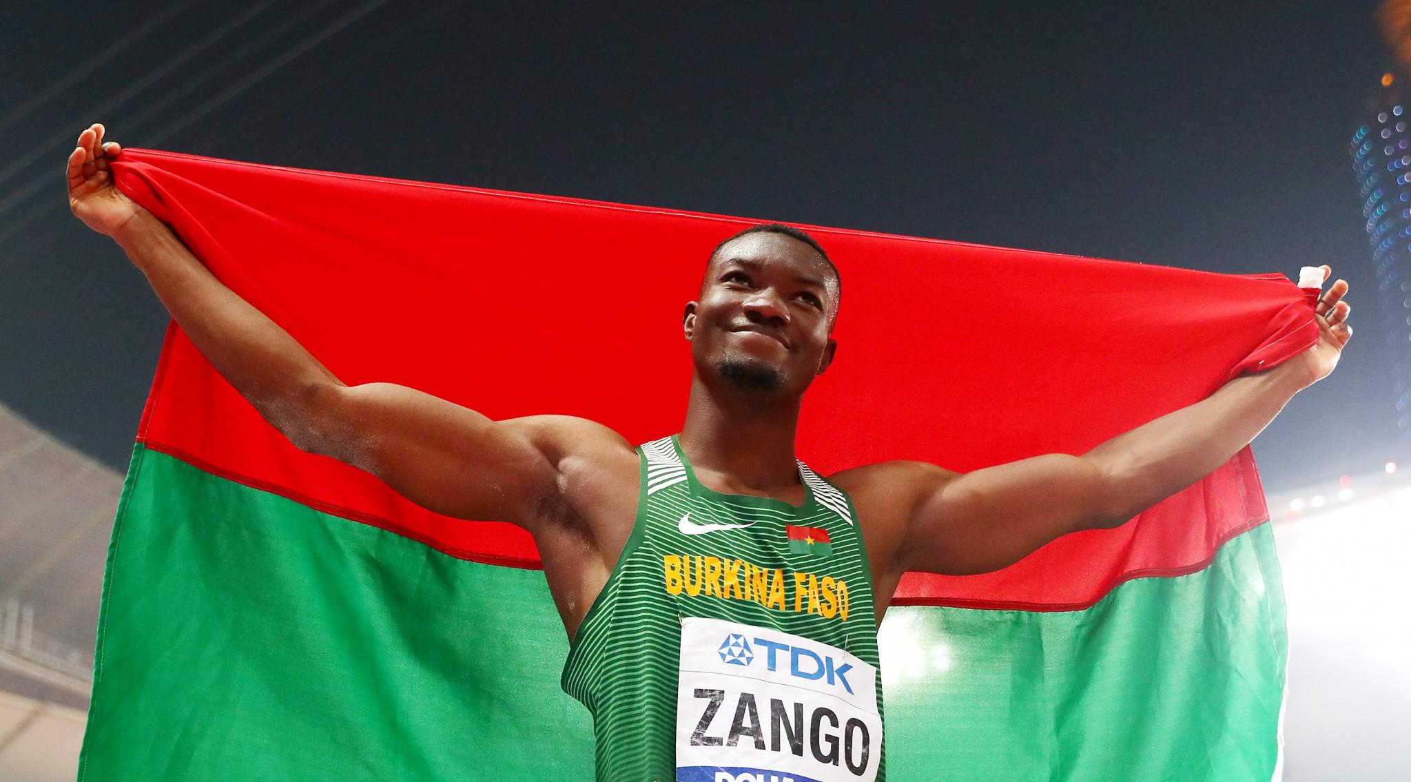 Burkina Faso's Zango set new indoor triple jump world record