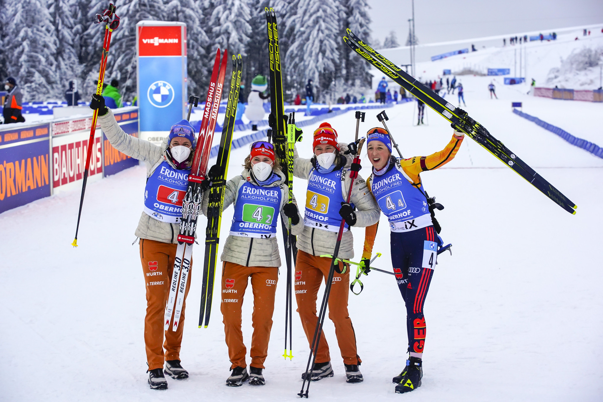 Germany triumph in women's relay event at IBU World Cup in Oberhof