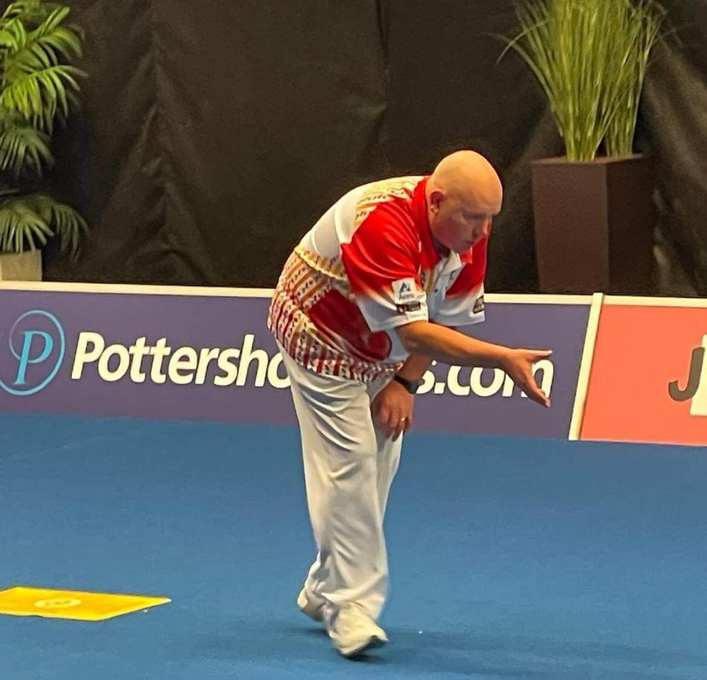 Scotland's Alex Marshall started his quest for a seventh World Indoor Bowls Championship open singles title by beating compatriot James Rippey in straight sets ©World Bowls Tour