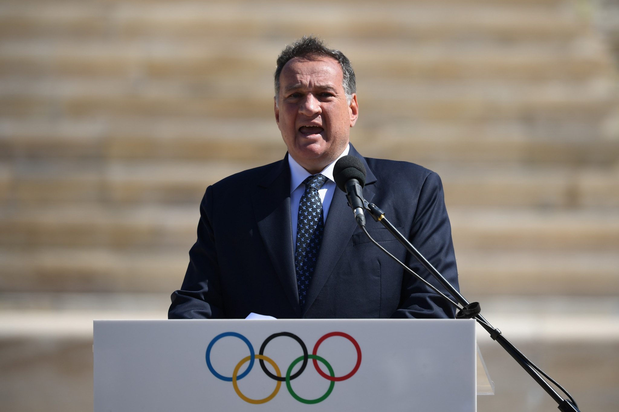 Hellenic Olympic Committee President Spyros Capralos vowed to support Sofia Bekatorou 