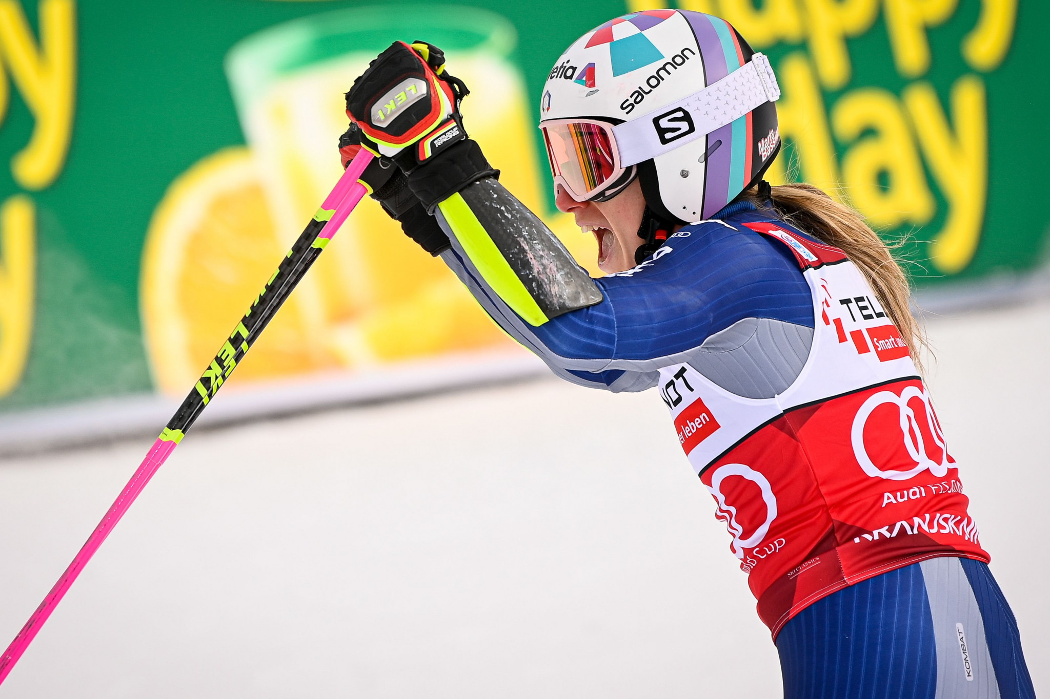 Bassino earns consecutive giant slalom victories in Kranjska Gora